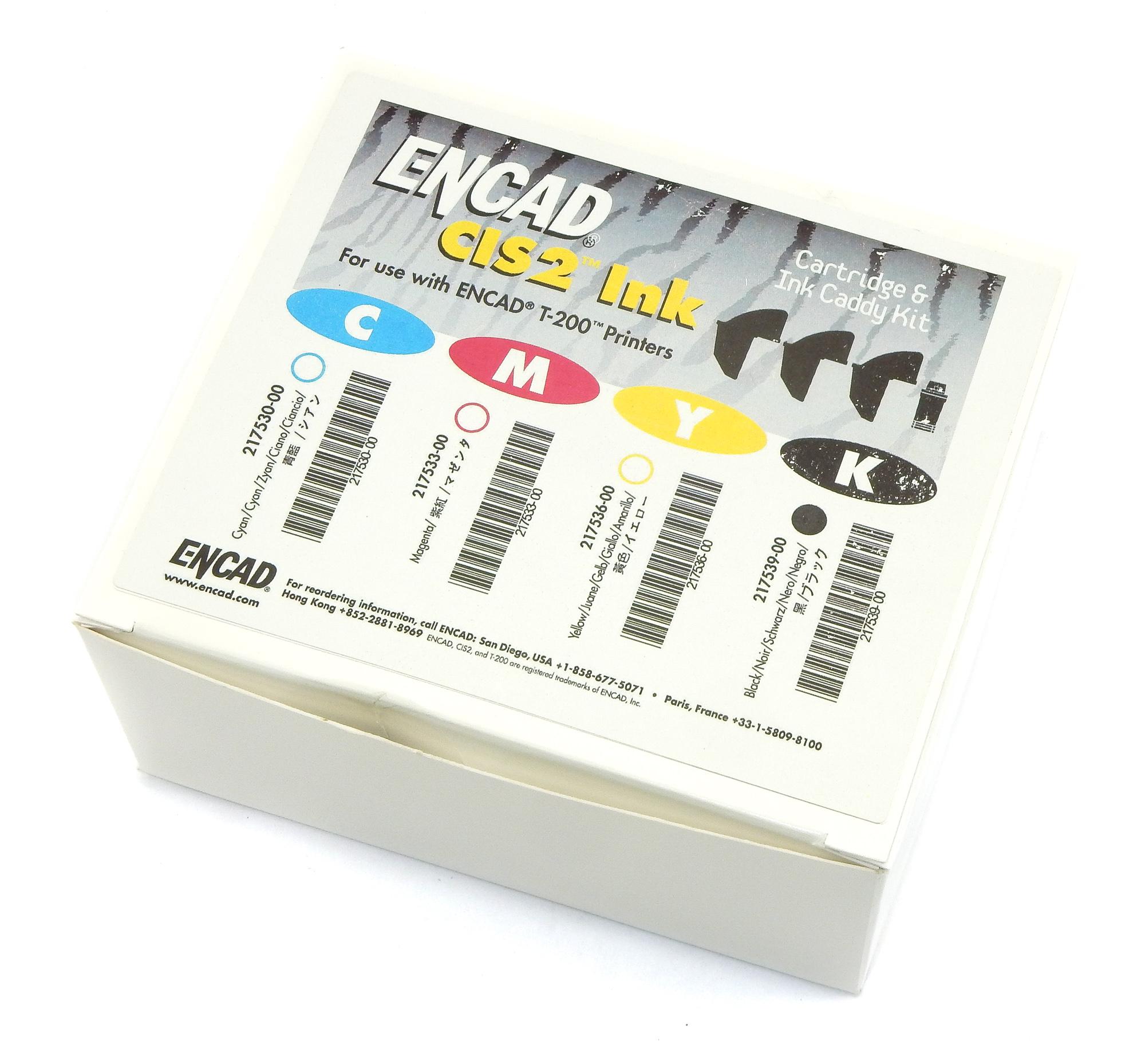 Genuine ENCAD 217539-00 CIS2 Cartridge & Ink Caddy Kit - Black
