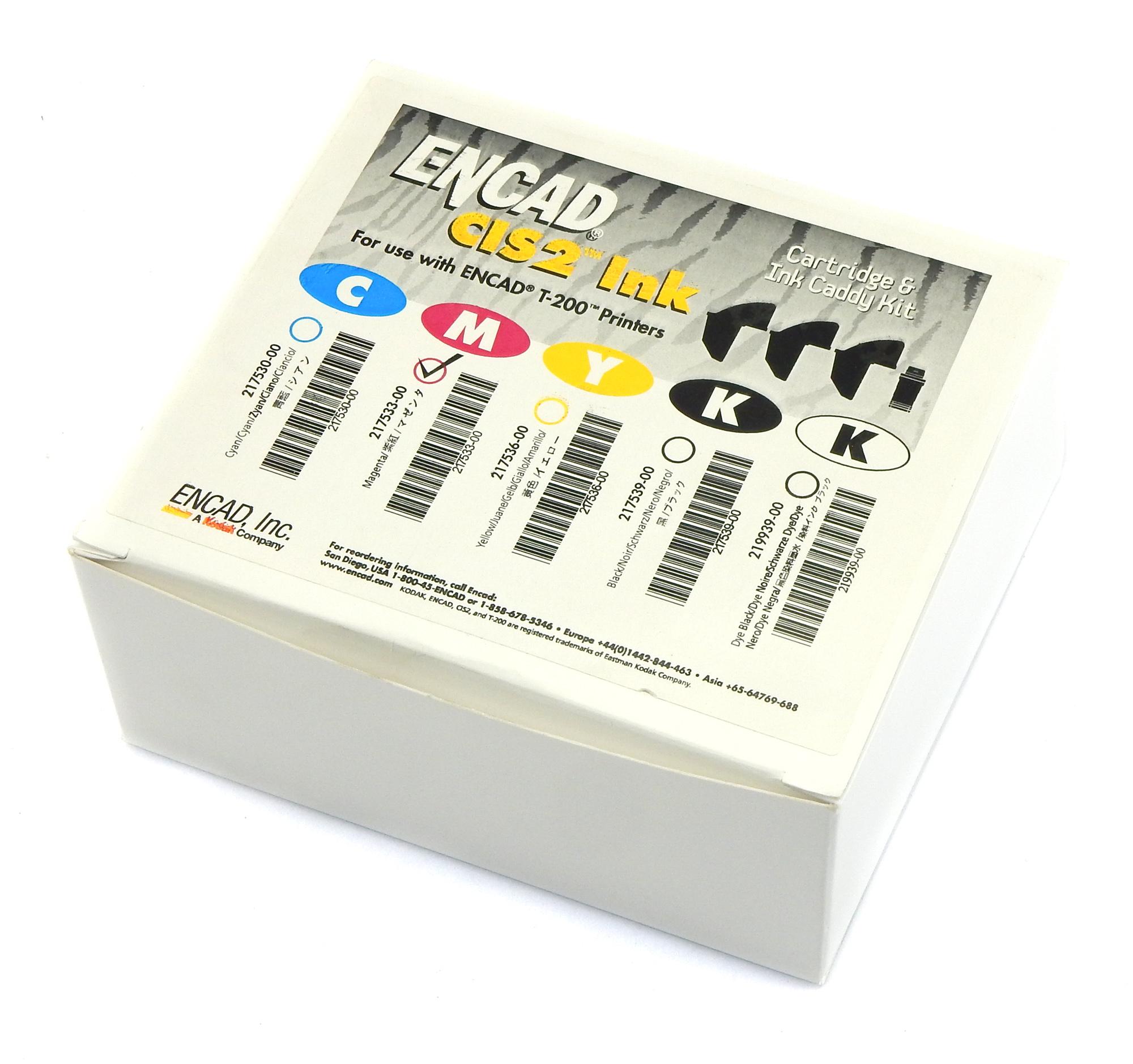 Genuine ENCAD 217533-00 CIS2 Cartridge & Ink Caddy Kit - Magenta