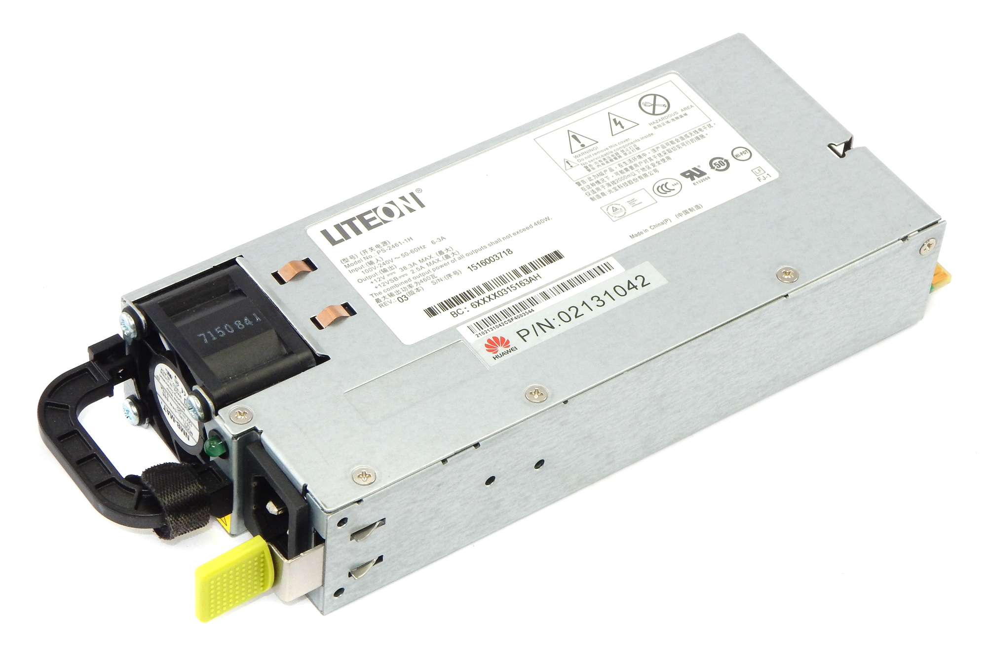 LiteOn PS-2461-1H 460W Server Power Supply / Huawei p/n 02131042