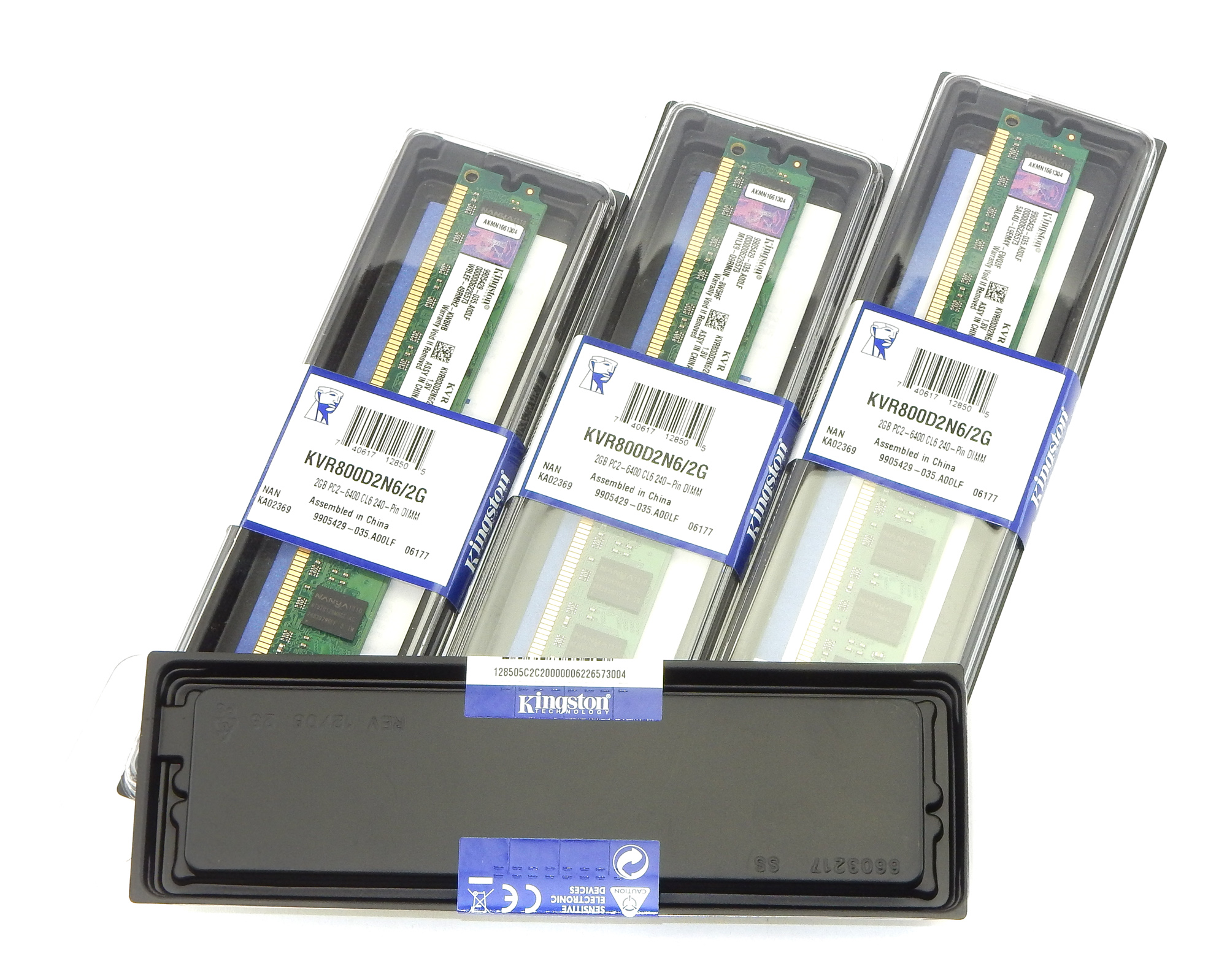 4x NEW Kingston KVR800D2N6/2G 2GB DDR2 Low Profile Desktop RAM PC2-6400 240pin