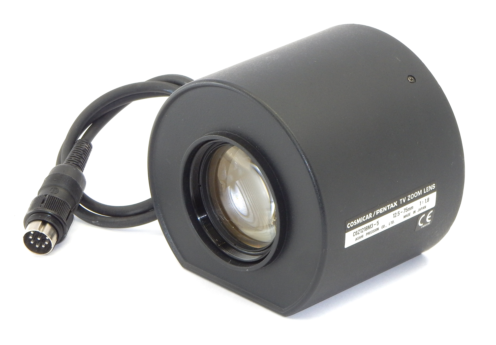 Cosmicar / Pentax C6Z1218M3-5 TV Zoom Lens 12.5-75MM 1:1.8