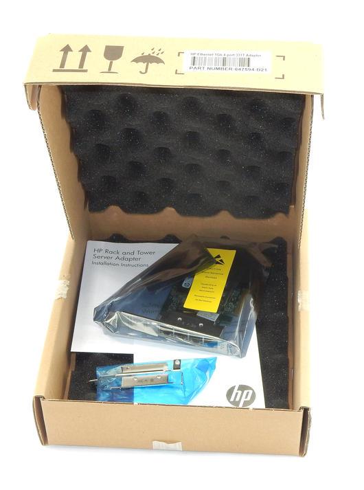 NEW HP 649871-001 PCI-e 4-Port Gigabit Ethernet Network Adapter / 647592-001