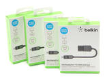 4x Genuine Belkin Mini DisplayPort to HDMI Adapter / Cable 12cm/5in