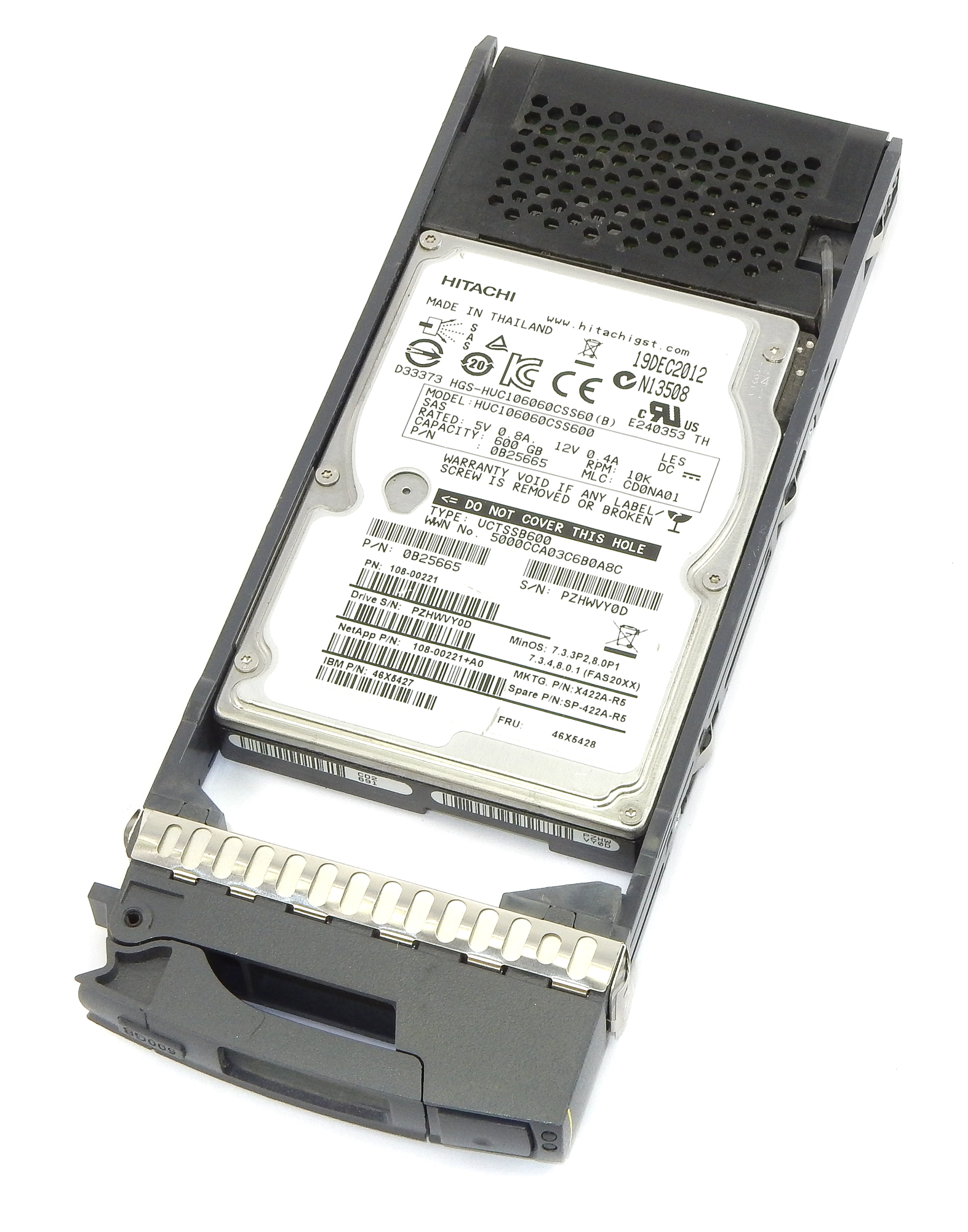 "NetApp 108-00221 600GB 10K 2.5"" SAS HDD IBM 46X5427"