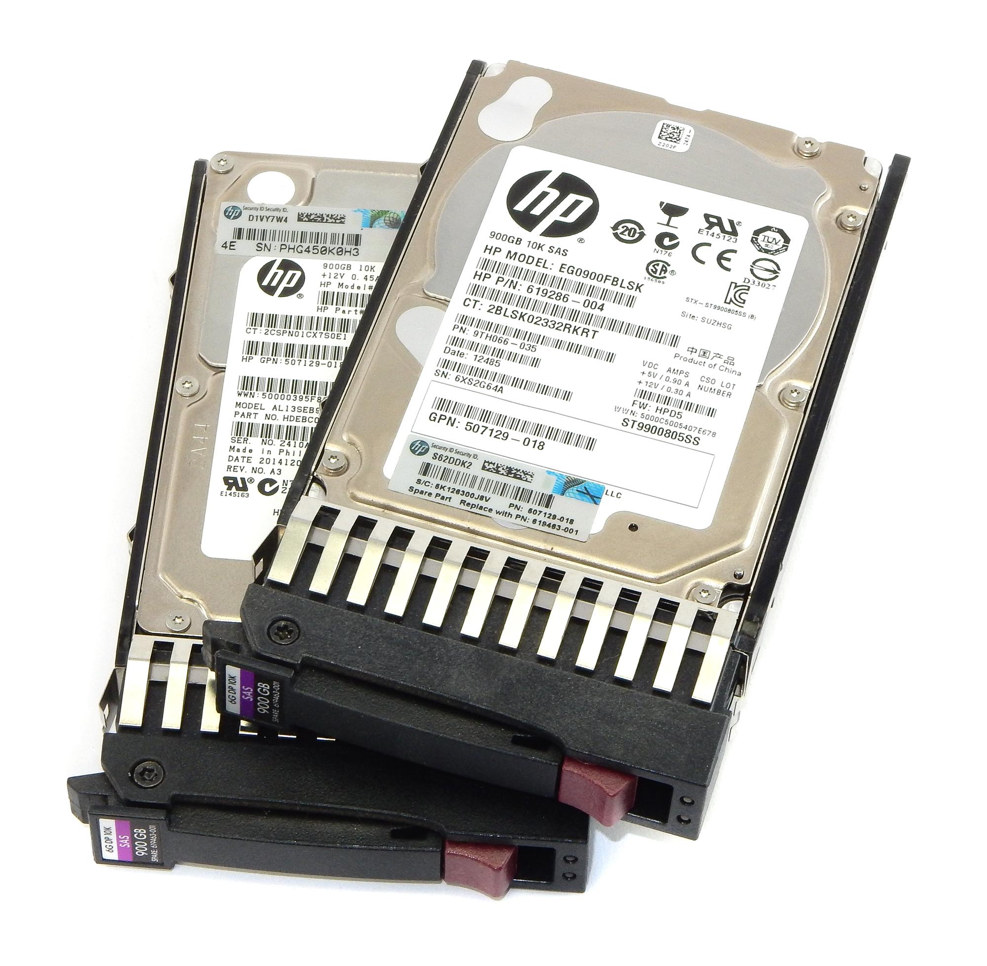 2x HP 507129-018 900GB DP 10K SAS Hard Drive In Caddy 619463-001