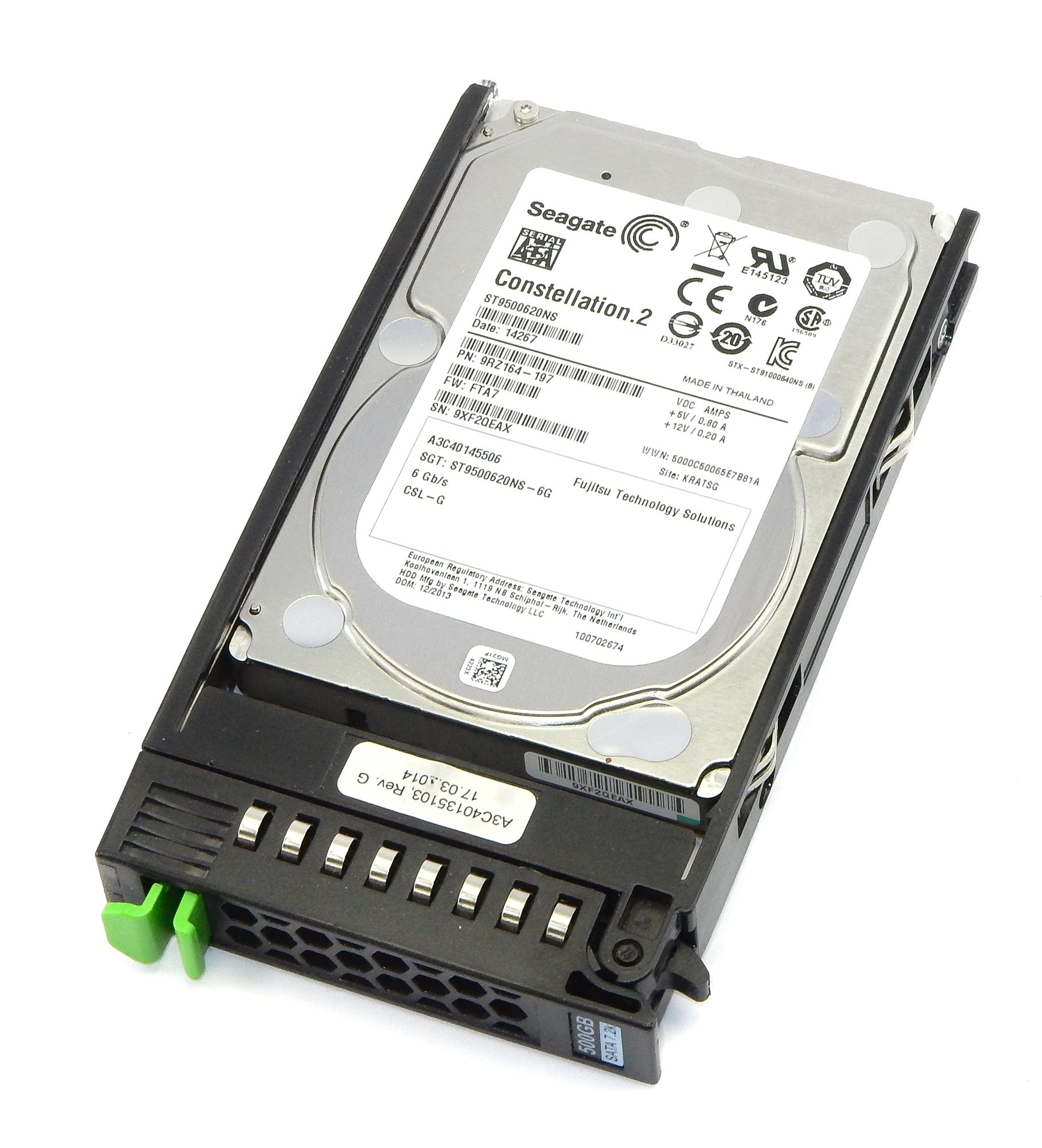 """Fujitsu A3C40135103 Constellation.2 500GB 7200 RPM SATA 2.5"""" HDD A3C40145506"""