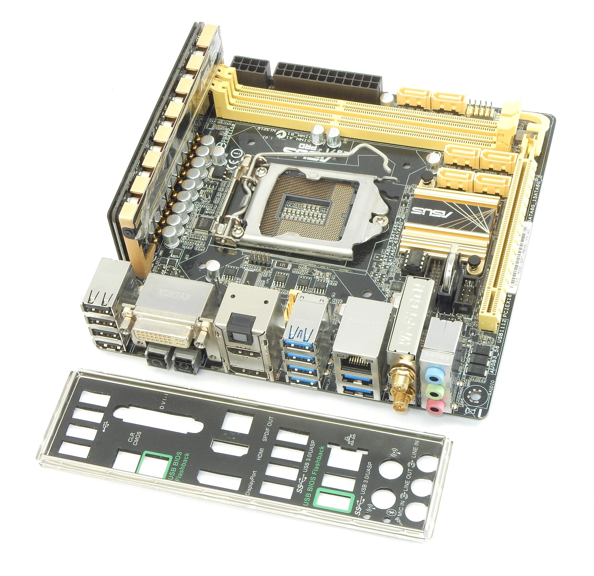 Asus Z87I-PRO LGA1150 Intel Z87 DVI HDMI Motherboard w/ WiFi