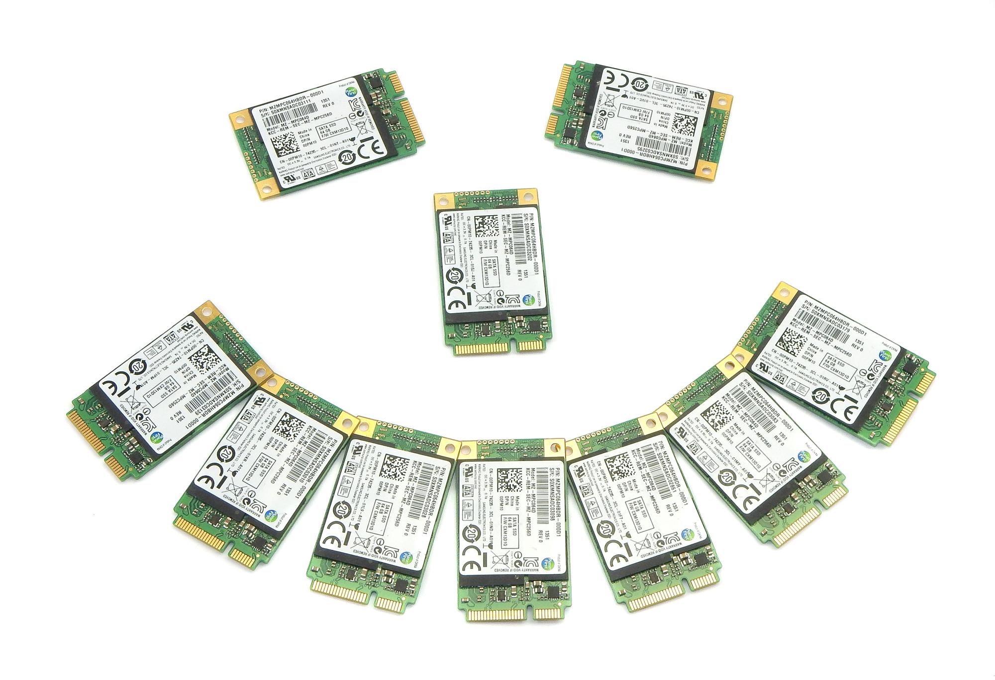 10x Dell 0PM10 Samsung 64GB mSATA SSD MZ-MPC064D