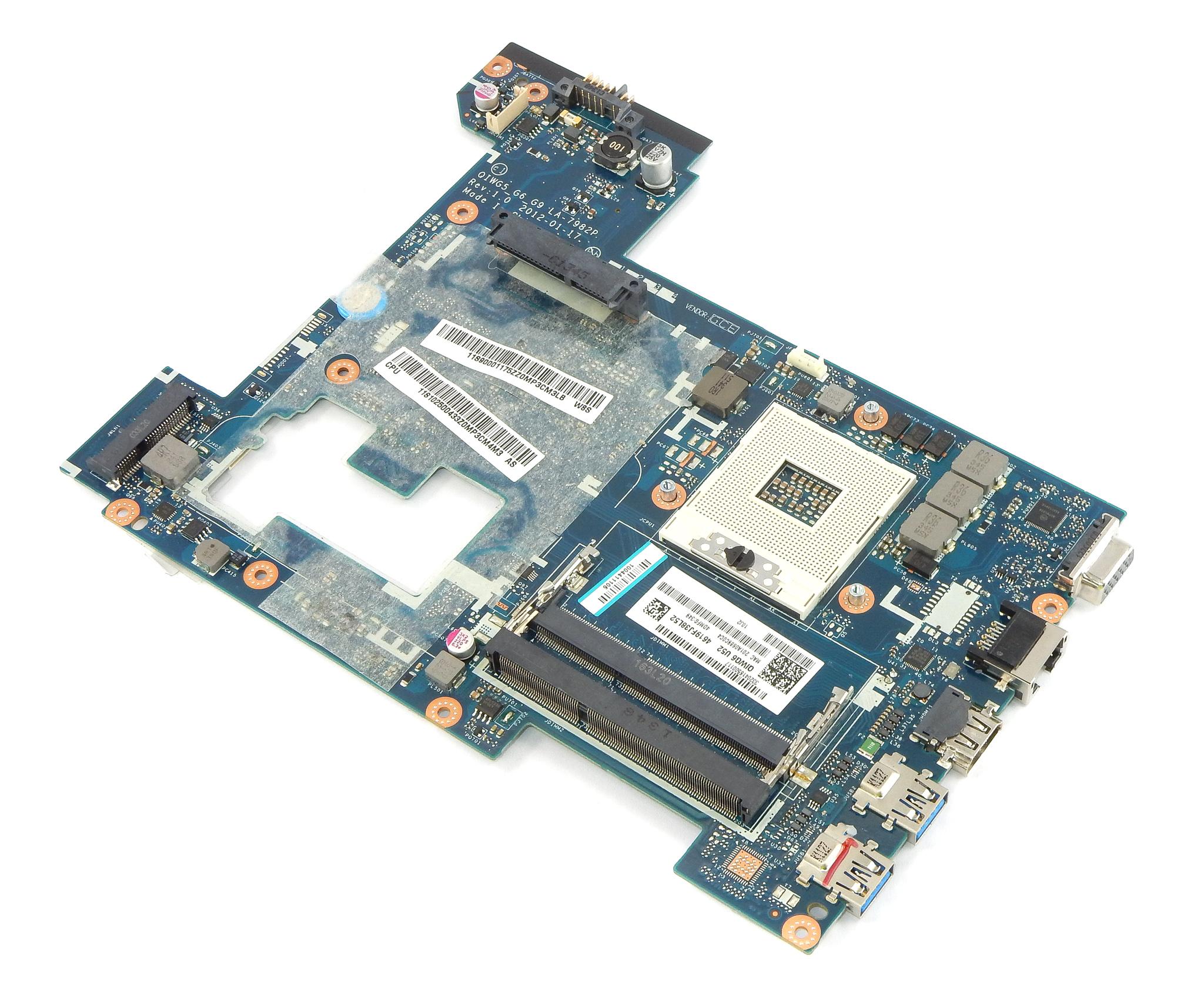 Lenovo 11S90001175 Ideapad G580 Laptop Motherboard QIWG5_G6_G9 LA-7982P