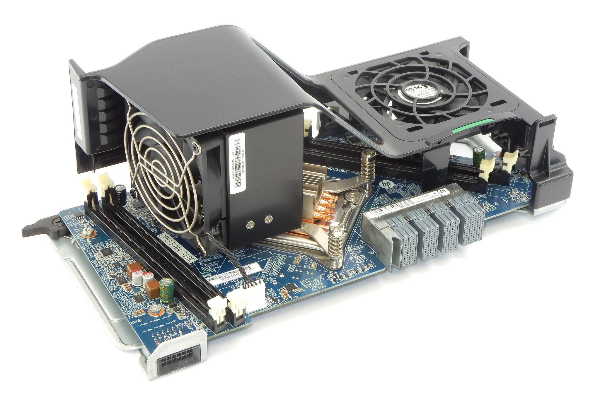 HP 618265-001 Z620 2nd CPU Riser Board w/ Fan and Heatsink 689471-001