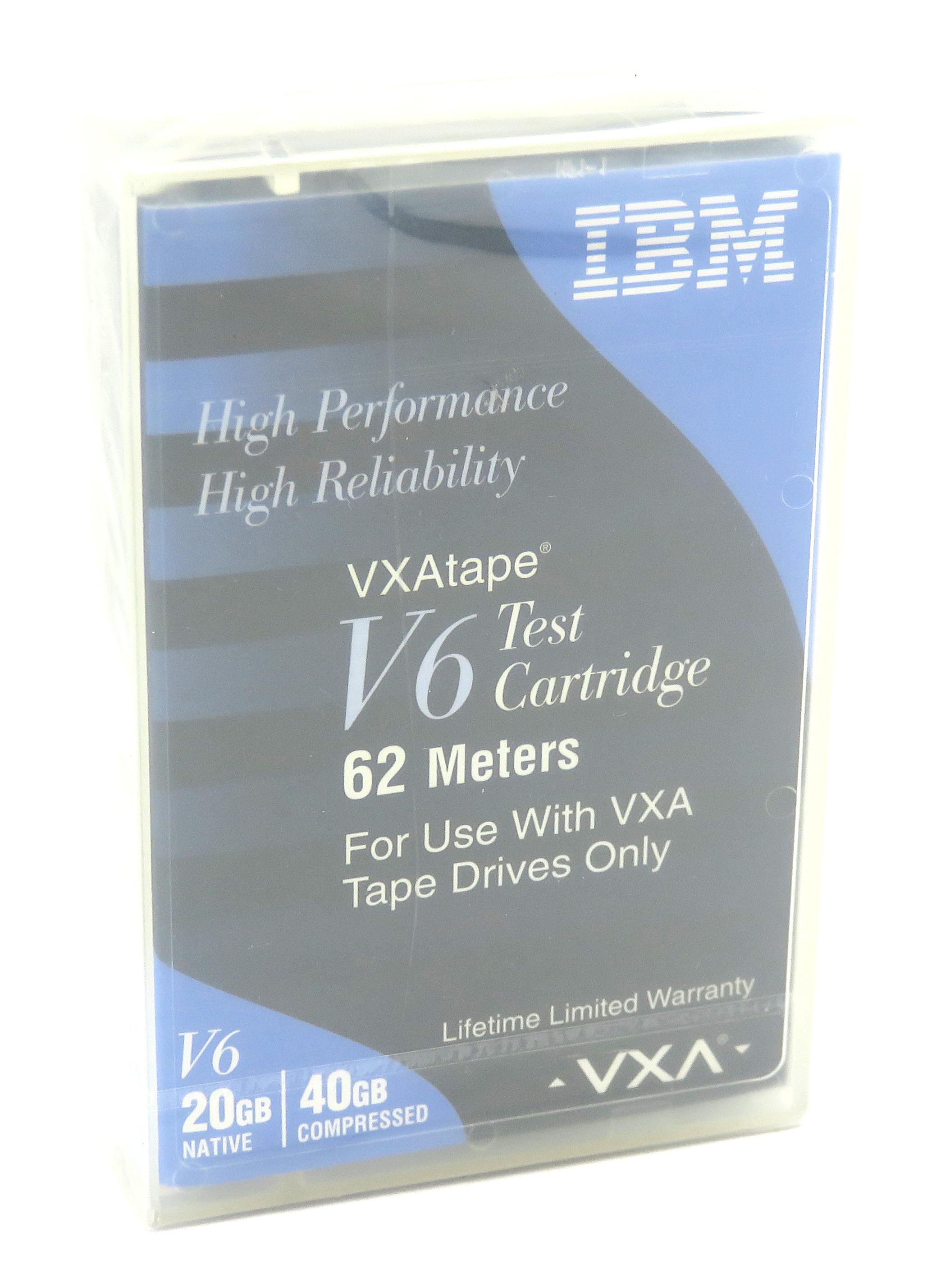 New, Sealed IBM VXAtape V6 20/40GB Test Cartridge 19P4879 for VXA Tape Drives