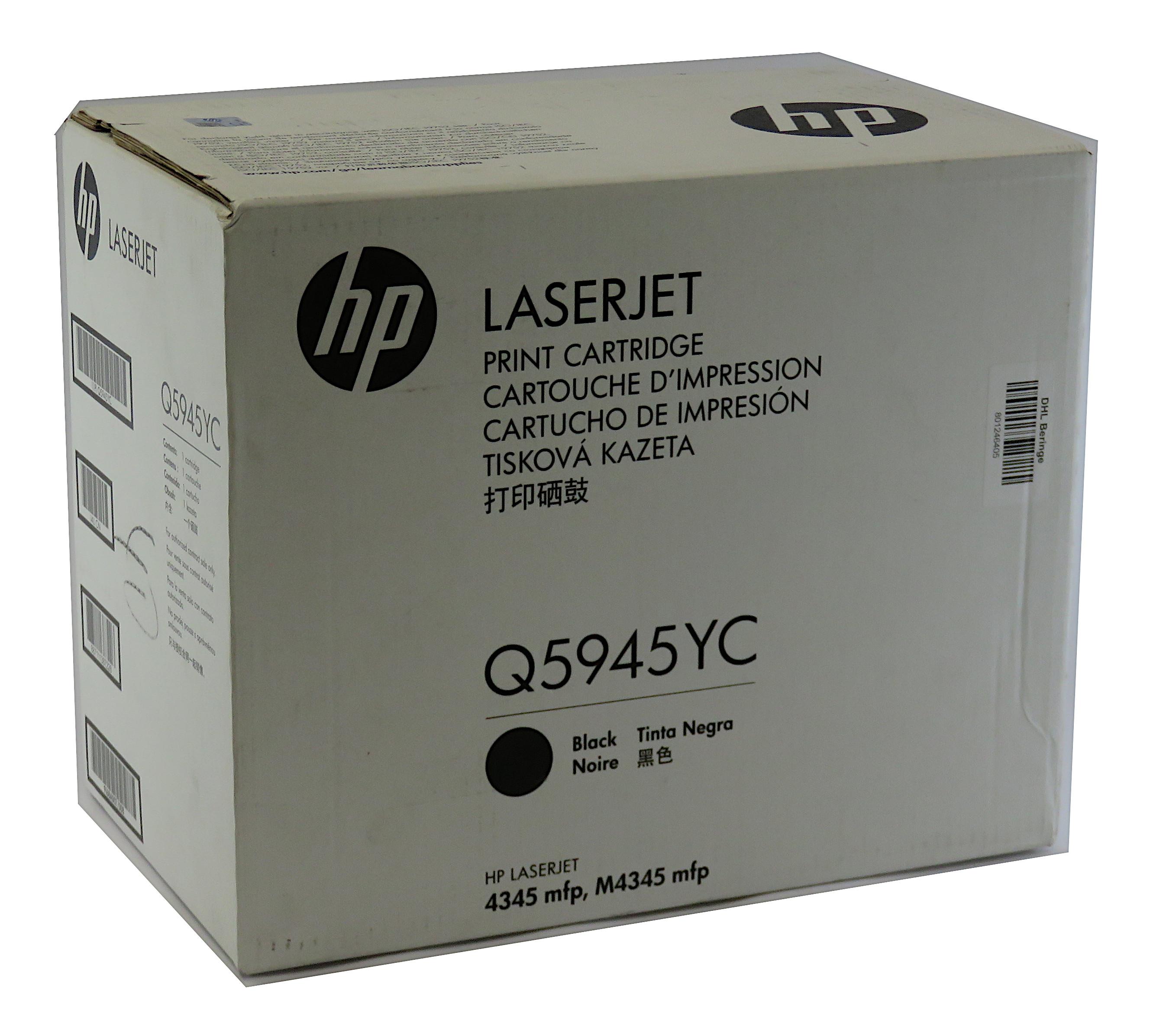Genuine HP Q5945YC Black Print Cartridge f/ LaserJet 4345mfp M4345mfp