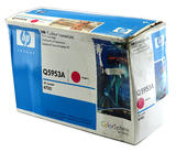 Genuine HP Q5953A Color LaserJet 4700 Magenta Toner- Blue and White, Damaged Box