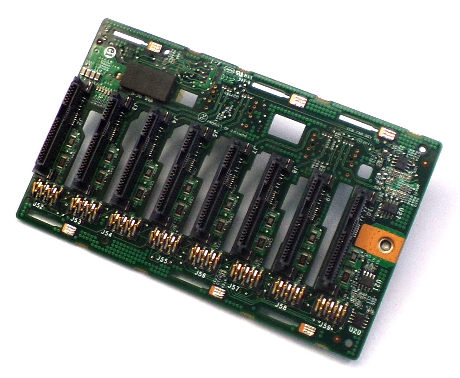 HP 638928-001 ProLiant ML350E G8 8x SAS SFF HDD Backplane Board