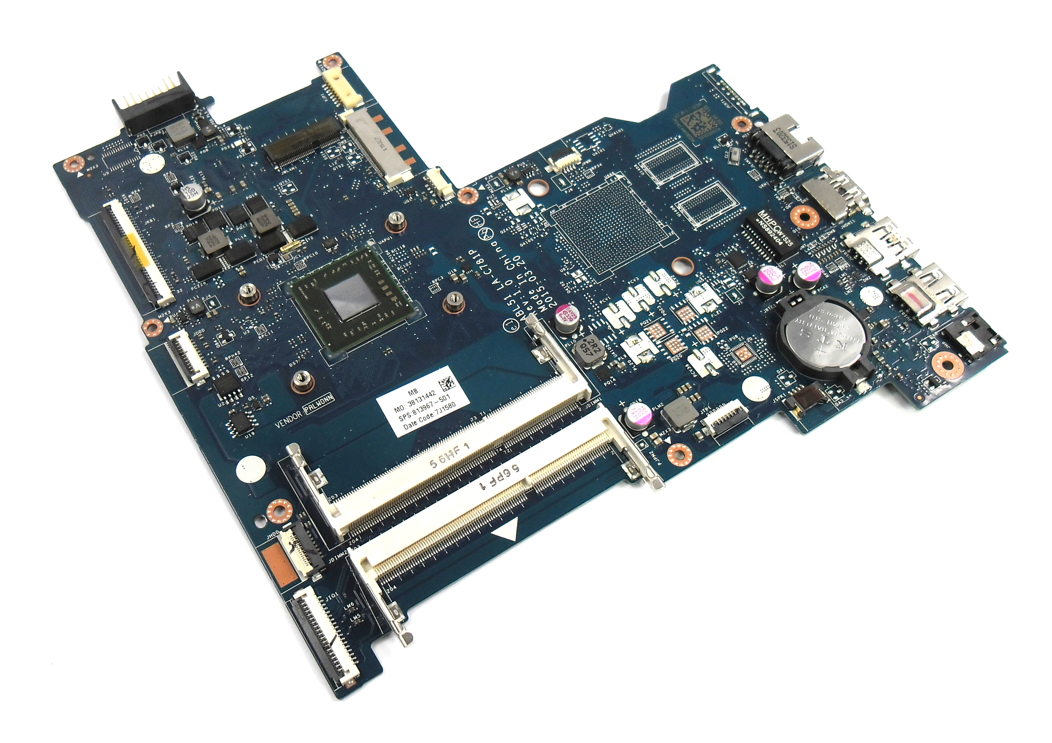 813967-501 HP Pavilion 15-af156sa with AMD A6-6310 Laptop Motherboard
