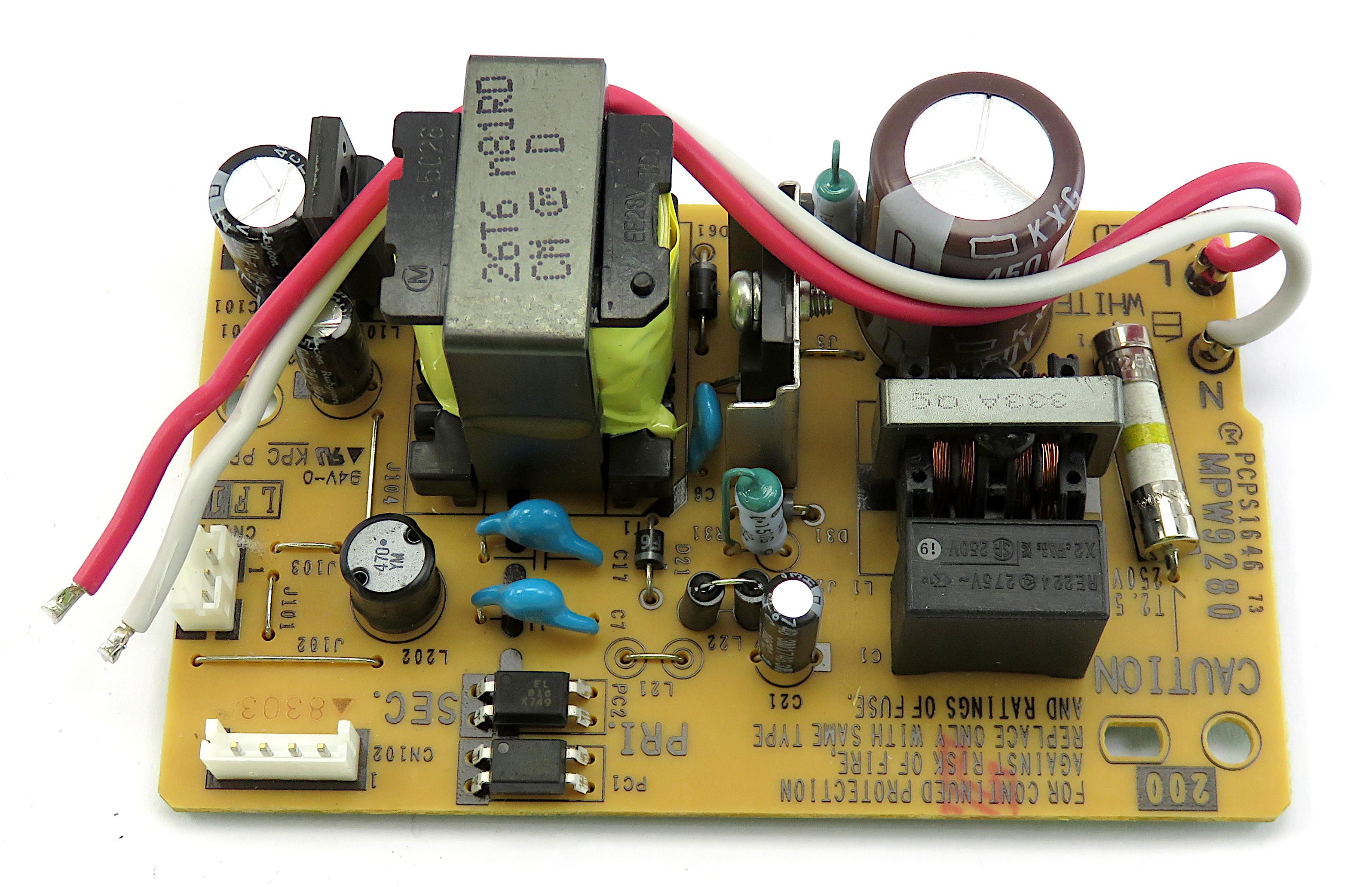 MPW9280 Open-Frame Internal Power Supply f/ Brother QL-1110NWB Label Printer