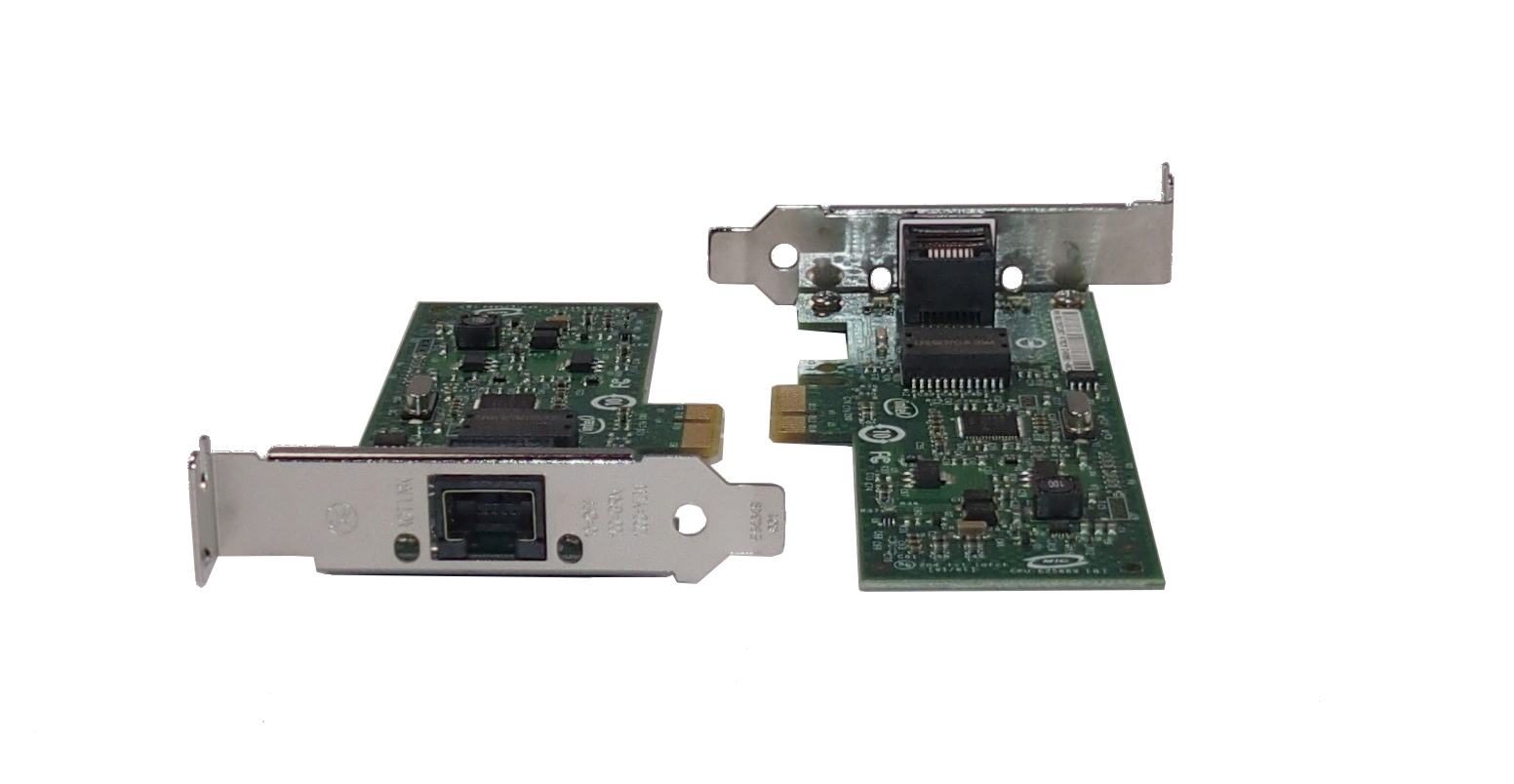 Two(2) x Intel E46981-008 PCI-e LP Gigabit CT Desktop Network Interface Card