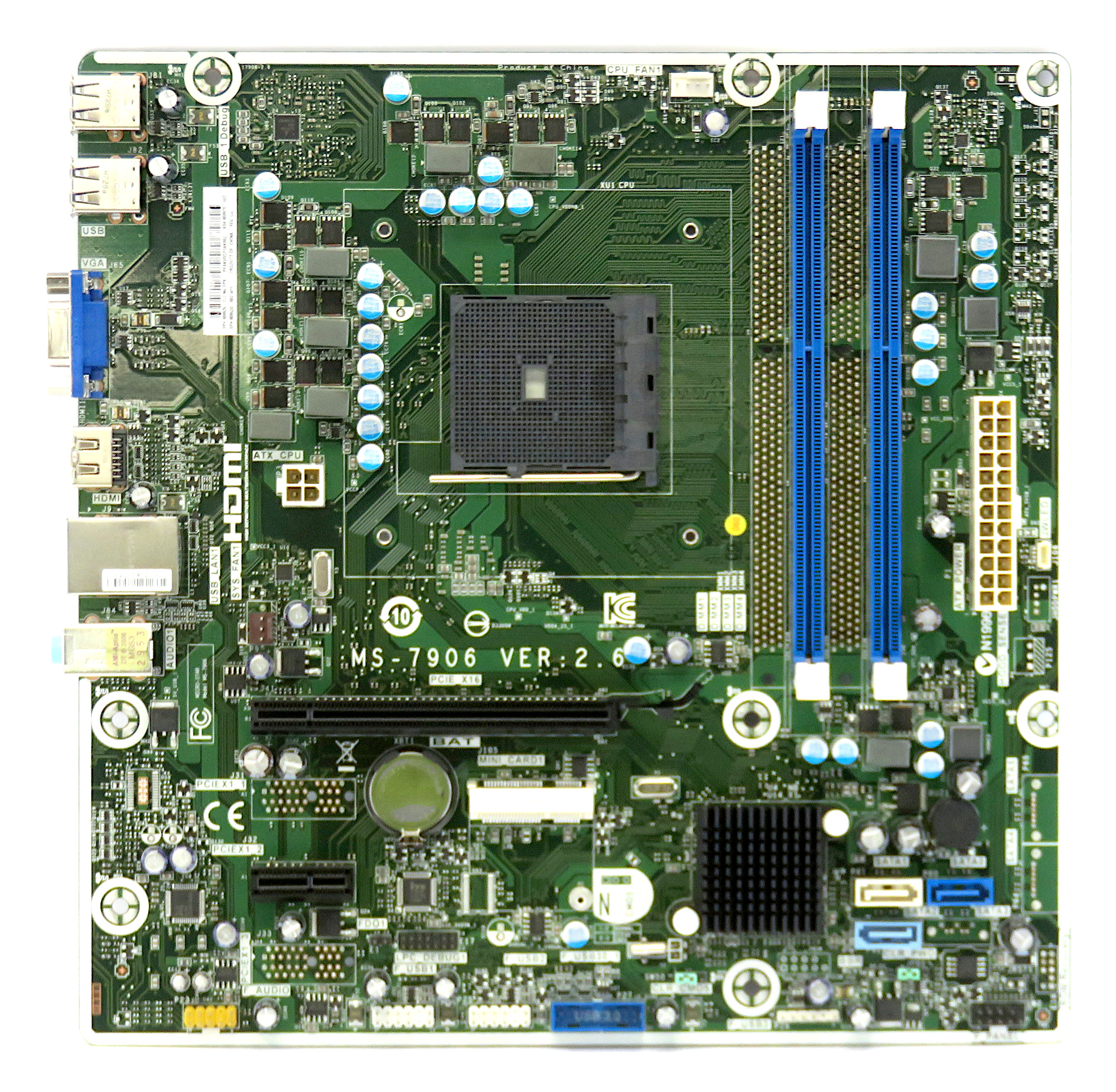 HP 808920-002 AMD Socket FM2b Motherboard MS-7906 VER:2.6
