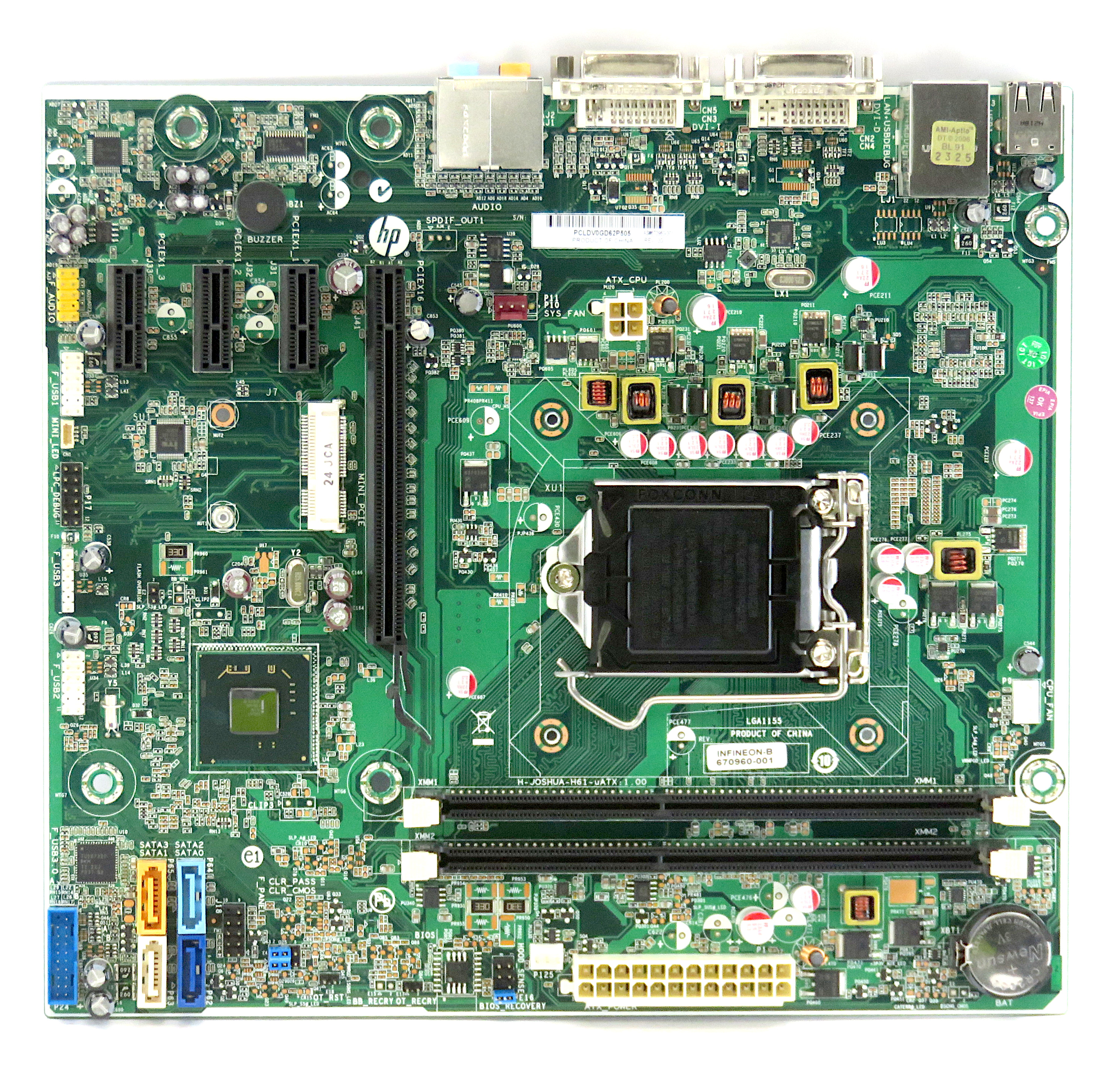 HP 670960-001 Replacement Socket 1155 Motherboard f/ Pavilion p6-2260ea PC