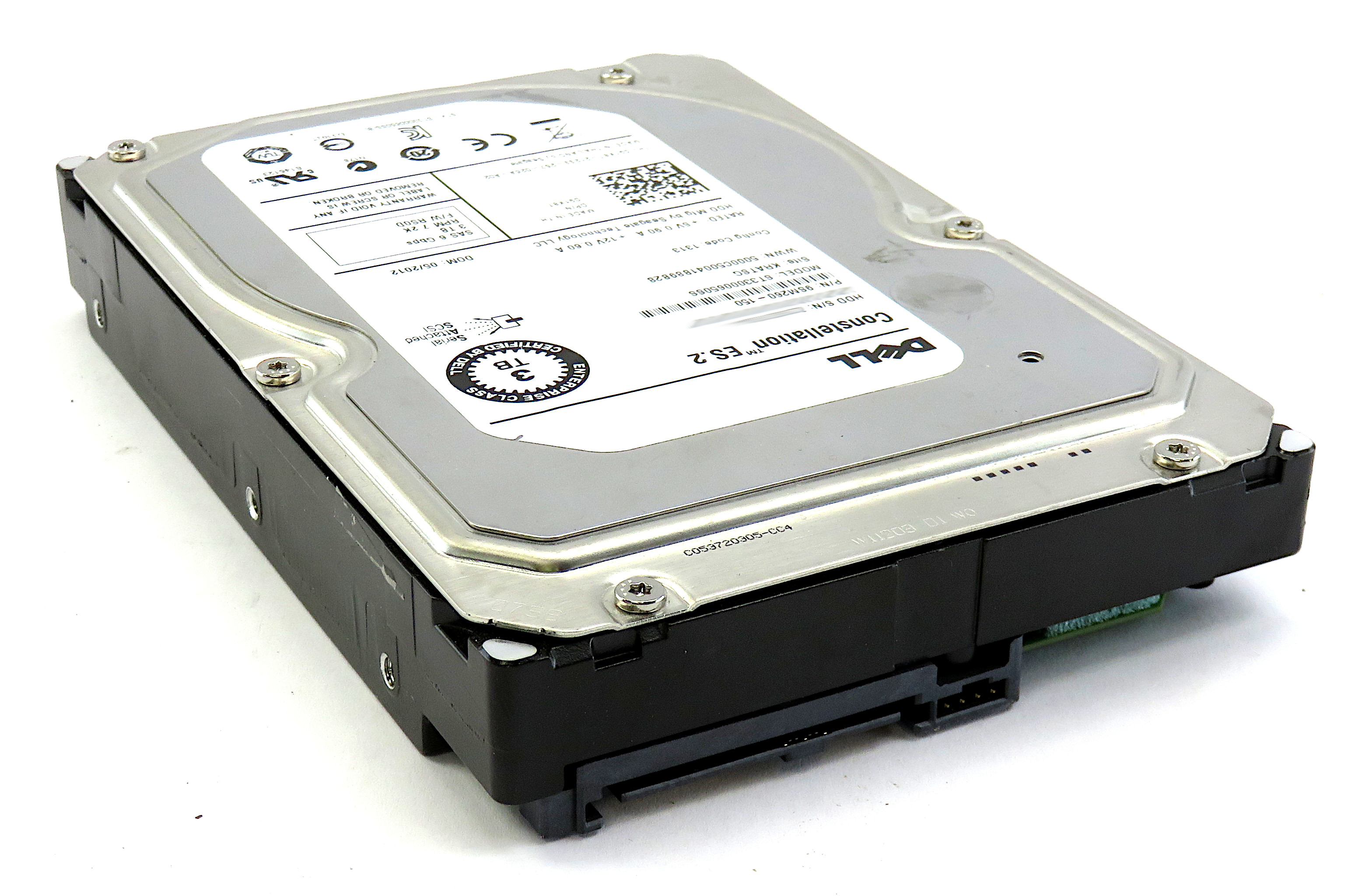 Dell 91K8T Seagate Constellation ES.2 3TB 7200RPM 6Gbps SAS HDD ST33000650SS