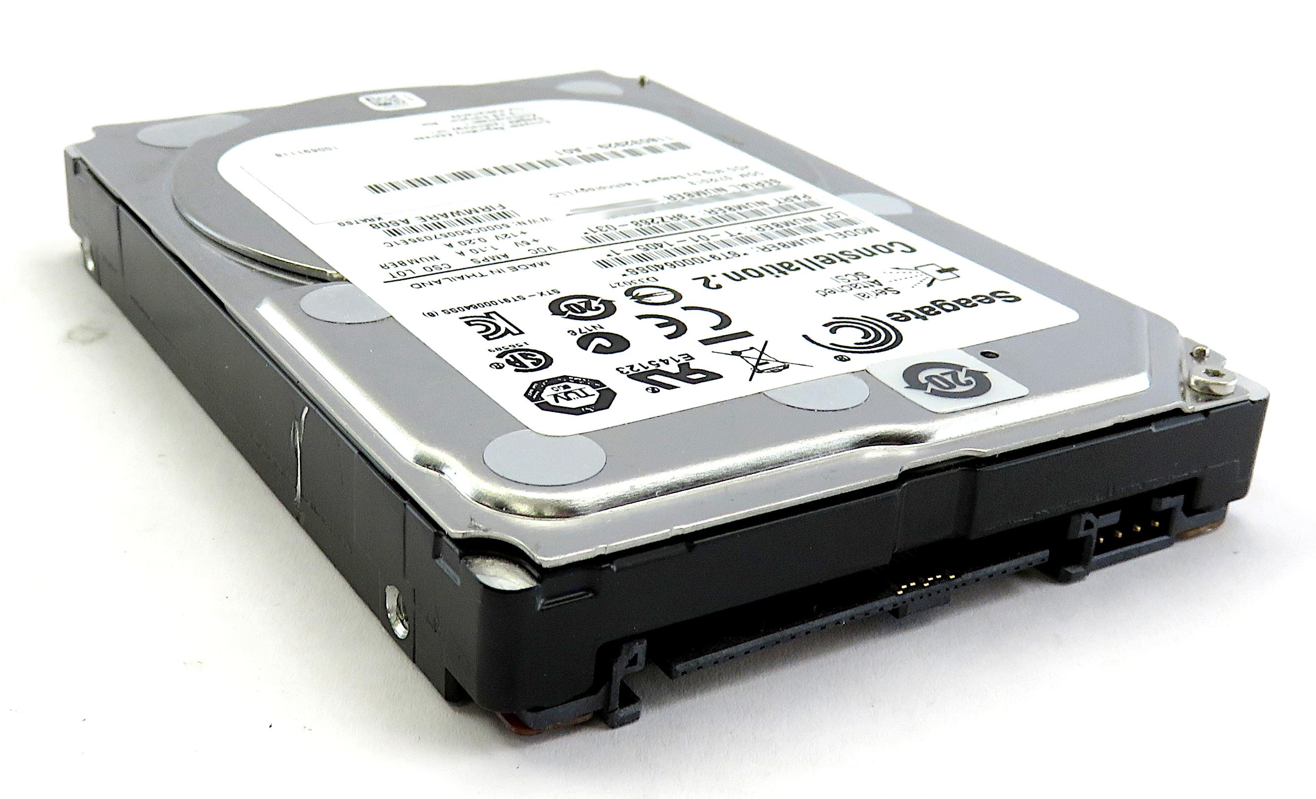 "Seagate ST91000640SS 1TB 2.5"" 7200K RPM 6Gb/s SAS Constellation.2 Hard Drive"