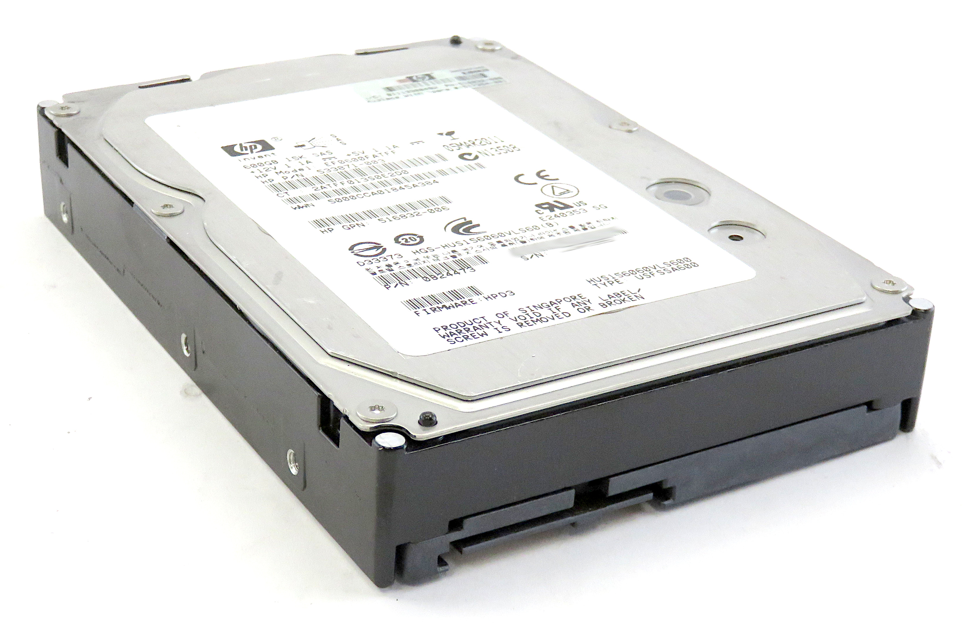 HP 533871-003 600GB 15K RPM 6Gbps SAS HDD EF0600FATFF