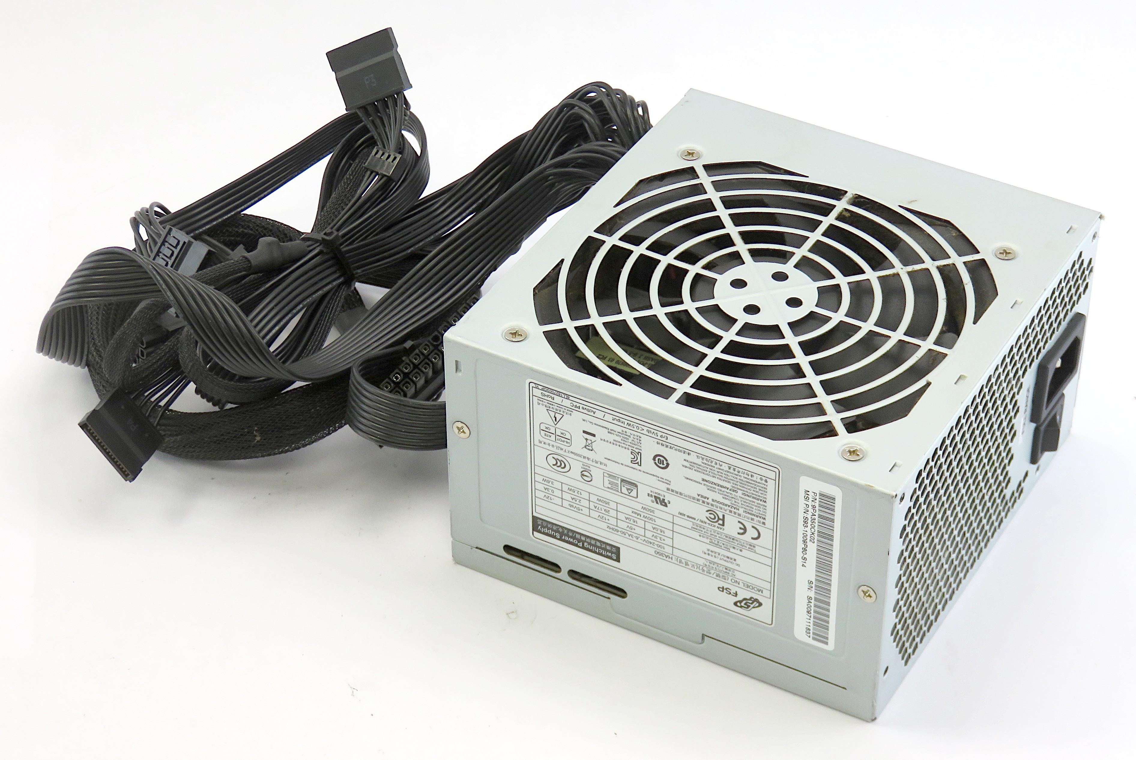 MSI S93-1009P60-S14 FSP HA350 ATX Power Supply 9PA350CK02 f/ Infinite Gaming PC