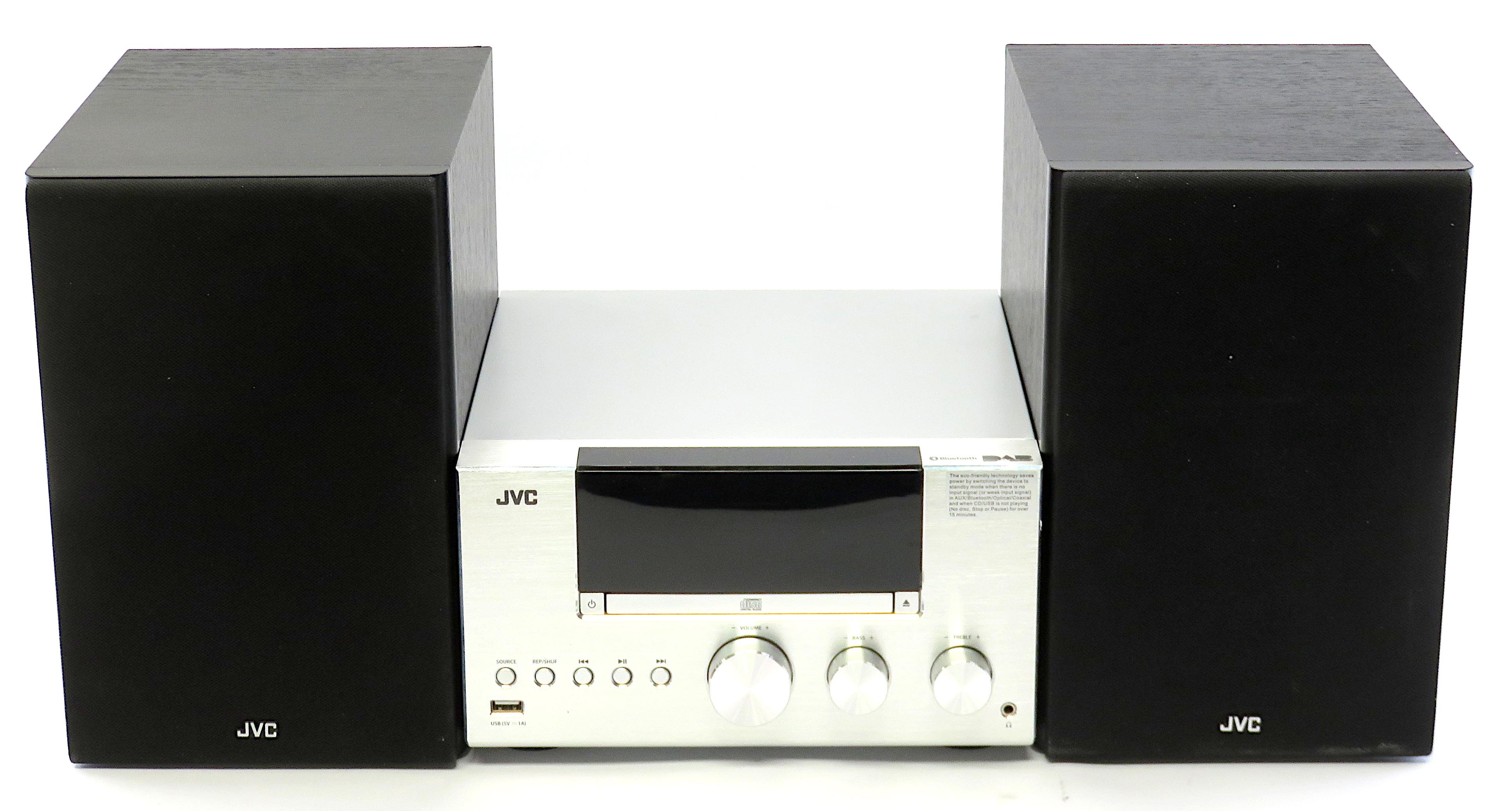 JVC UX-D427S Bookshelf Valve Amplifier CD/DAB/BT Hi-Fi System *READ DESCRIPTION*