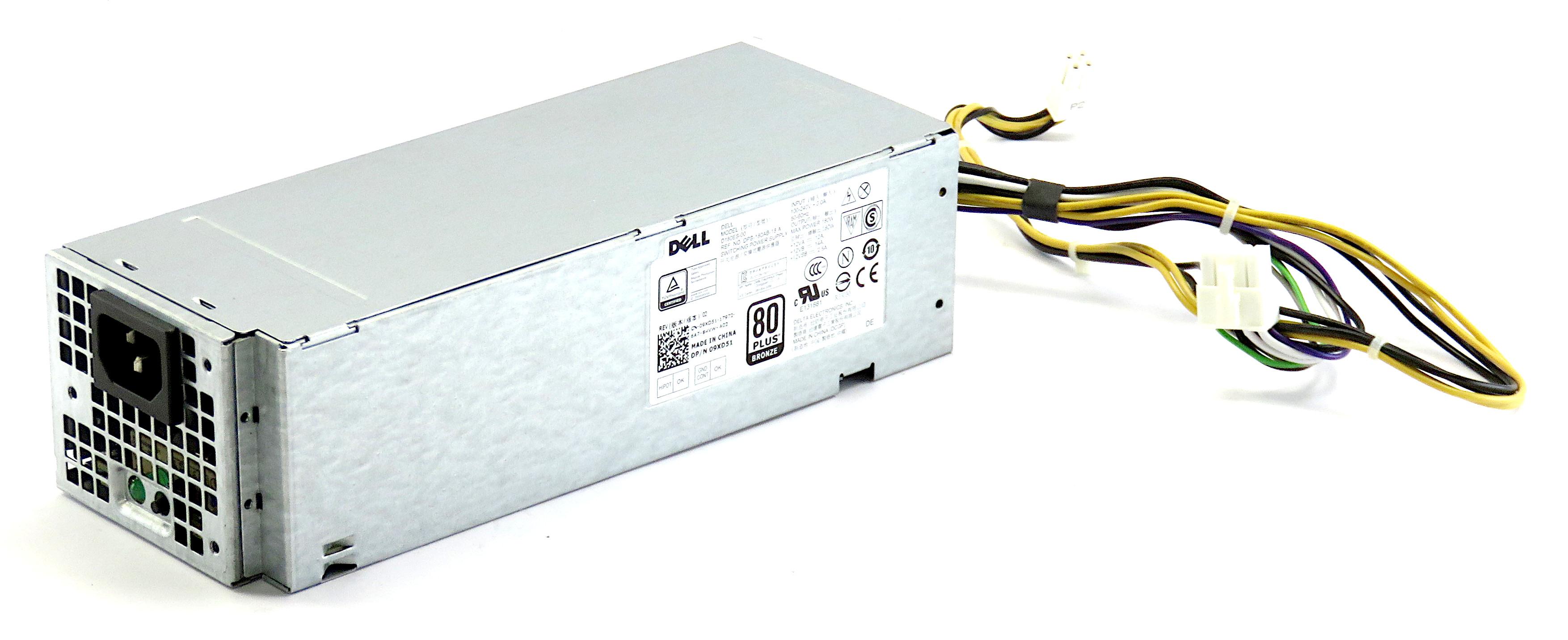 Dell 09XD51 180W 80+ Bronze Power Supply DPS-180AB-18 A f/ OptiPlex 3040 SFF PC