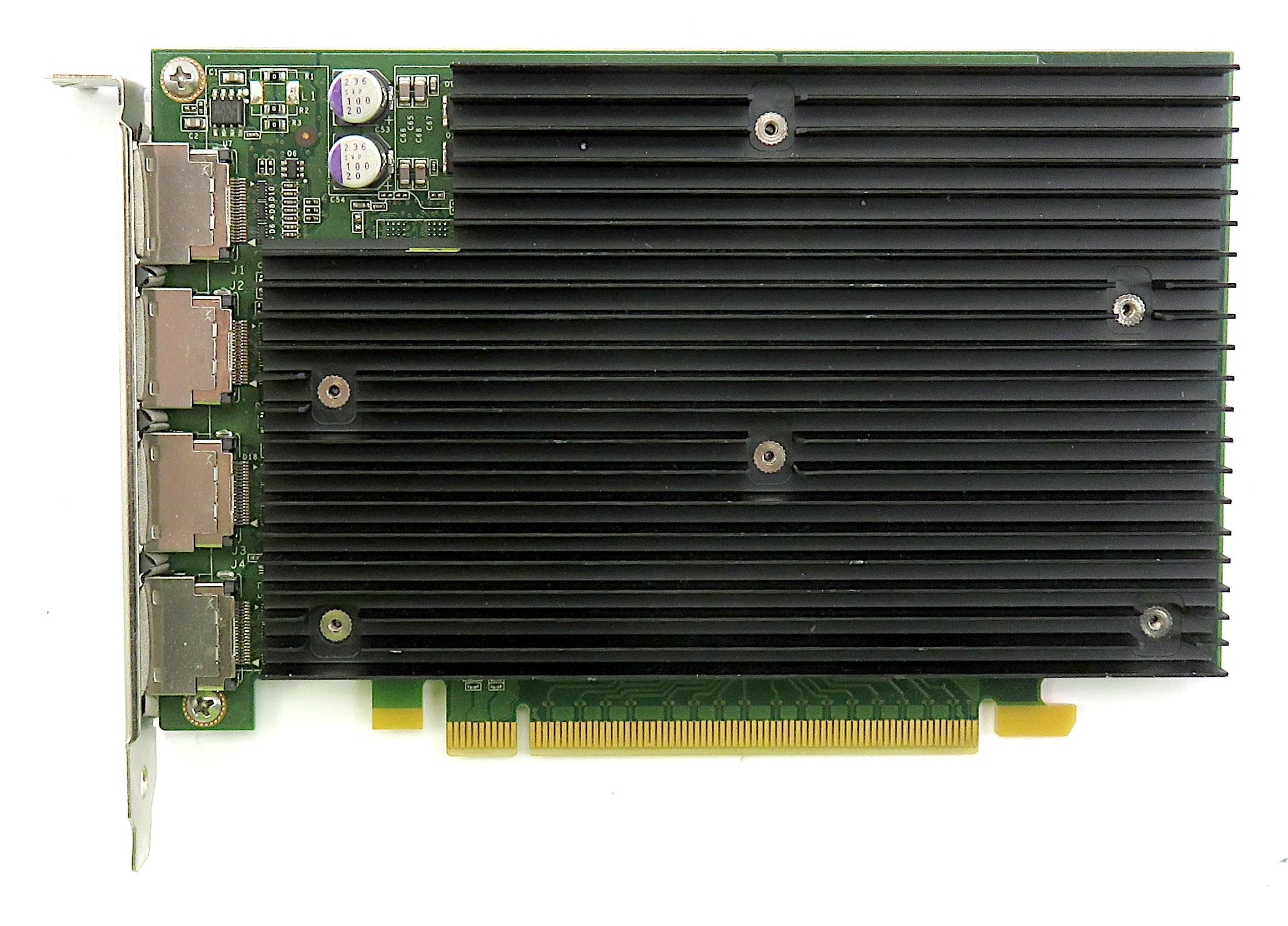 HP 689470-001 Nvidia Quadro NVS 450 512MB Quad-DP Workstation Graphics Card