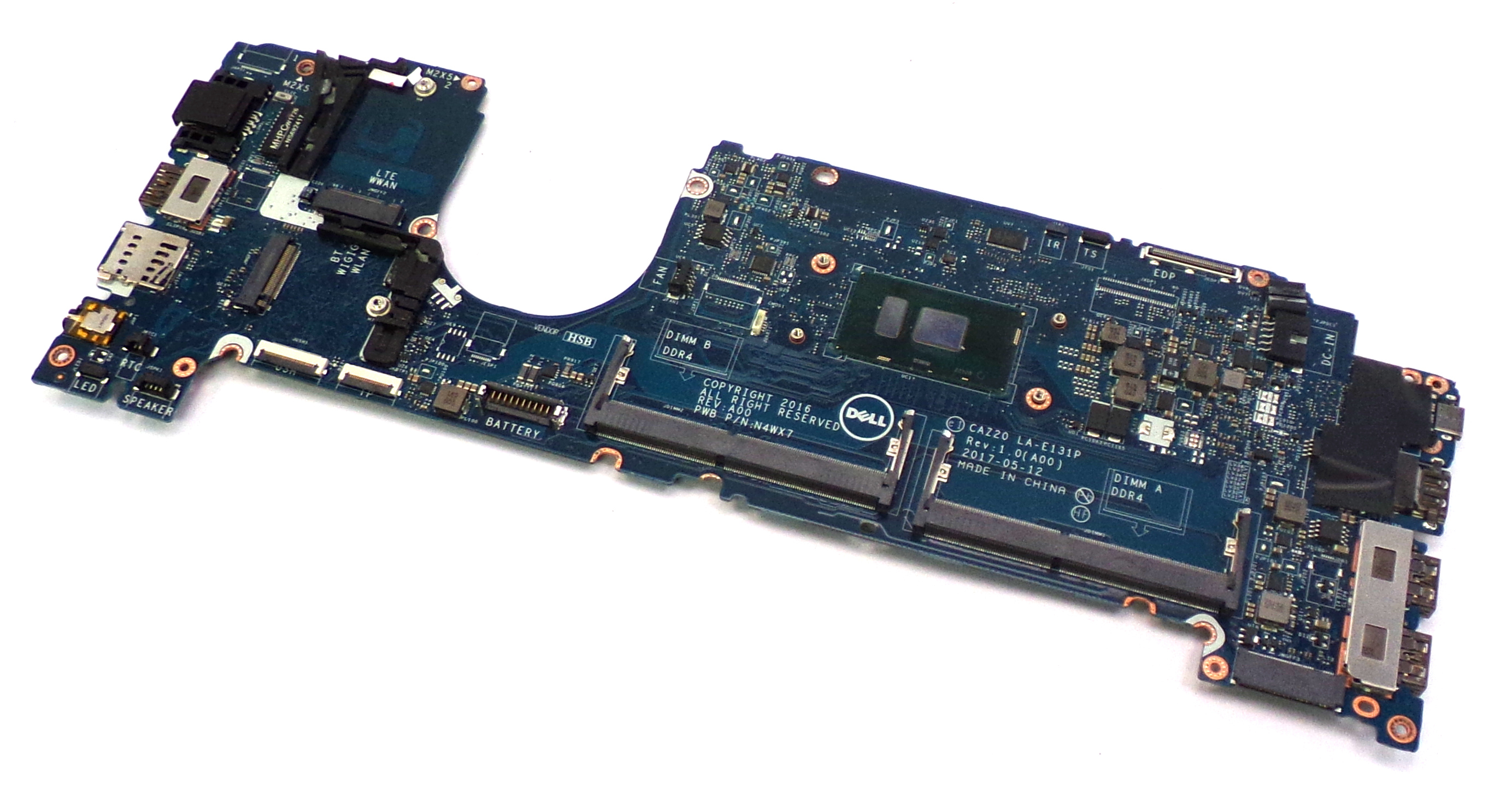 Dell CXWHP Latitude 7480 with Intel Core i7-7600U 2.8Ghz Laptop Motherboard