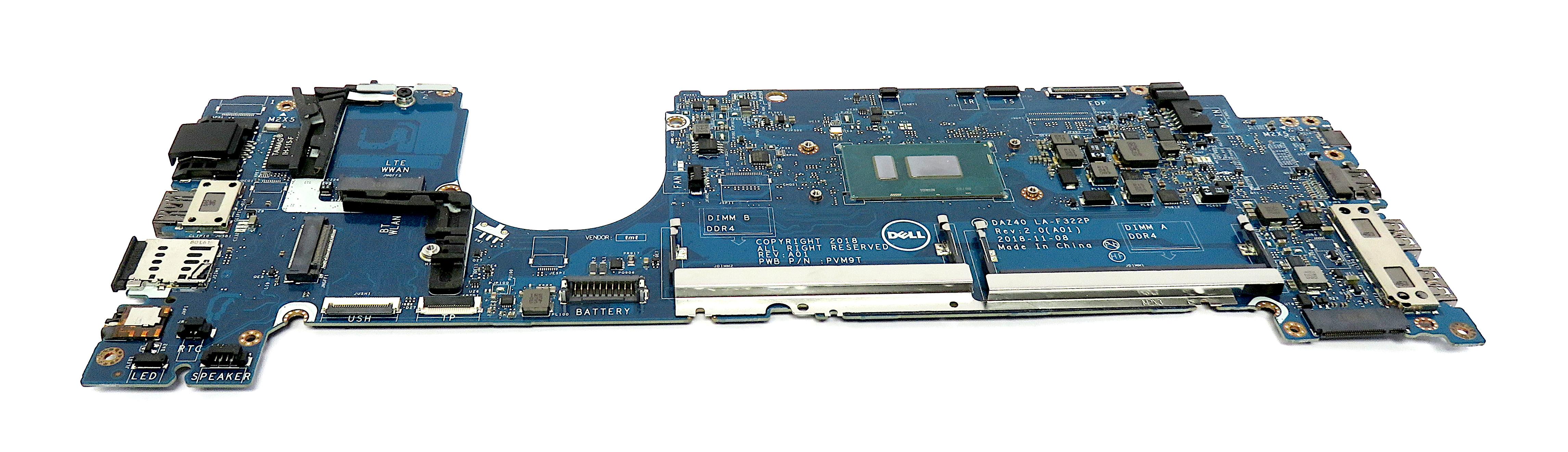 0T0VJ3 Dell Latitude 7490 Laptop Motherboard w/ BGA Core i5-8350U CPU