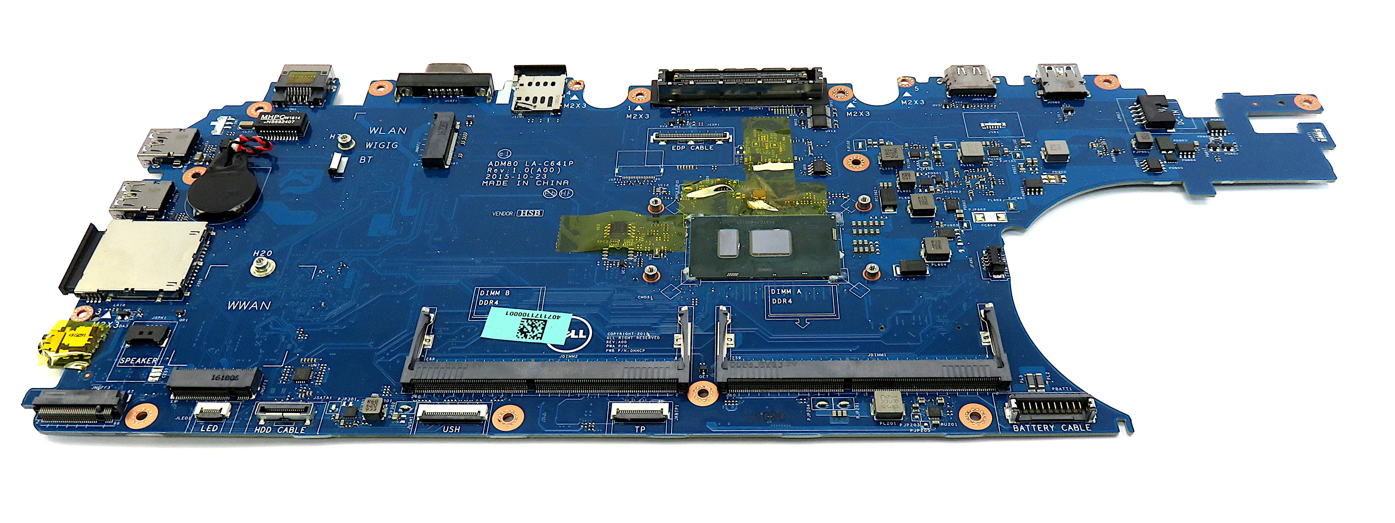 Dell Latitude E5570 Core i5-6300U 2.4GHz DDR4 SDRAM Laptop Motherboard - 3MCRF
