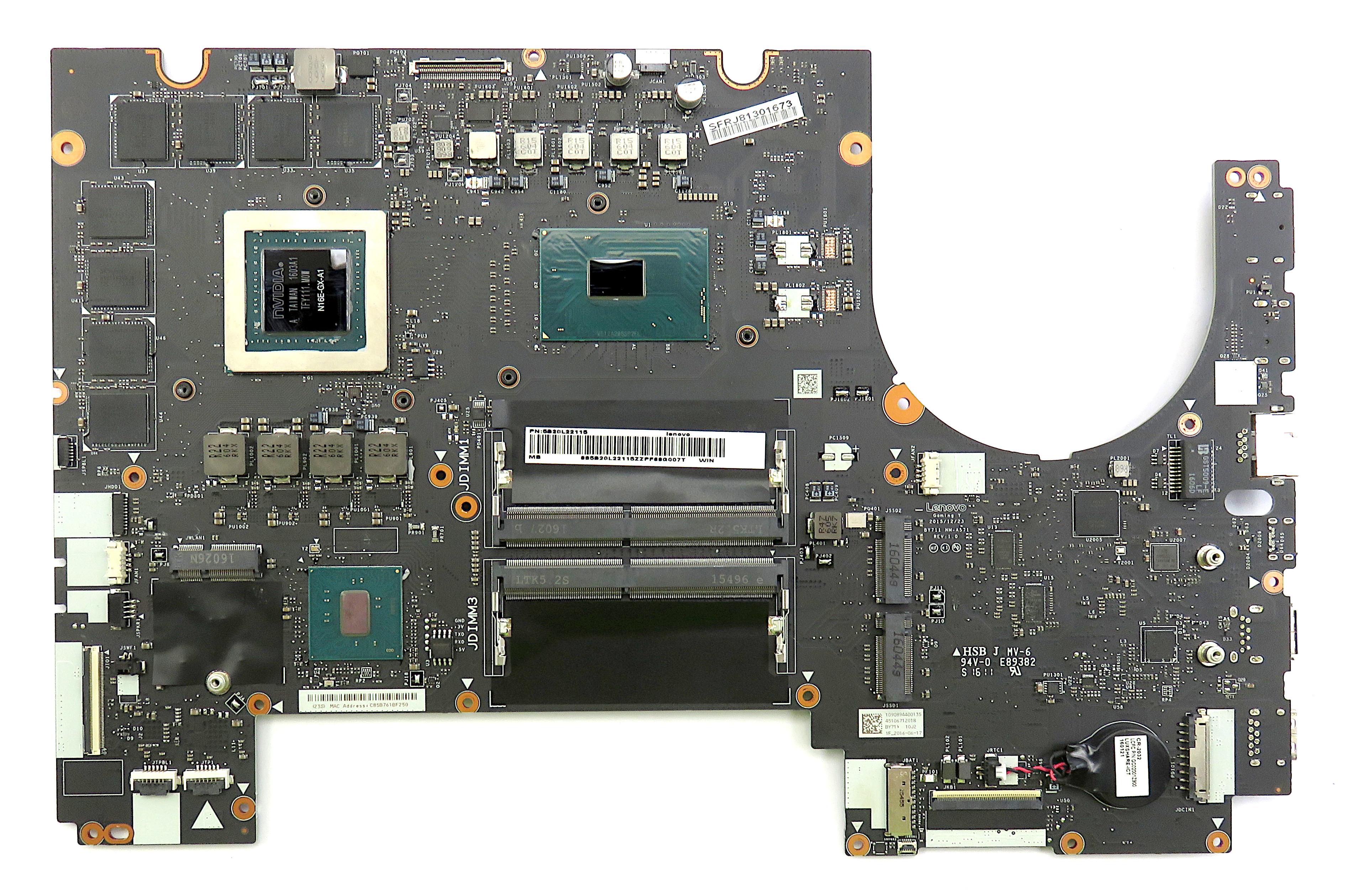 Lenovo 5B20L22115 IdeaPad Y900-17ISK Motherboard w/ i7-6820HK & GTX 980M 8GB