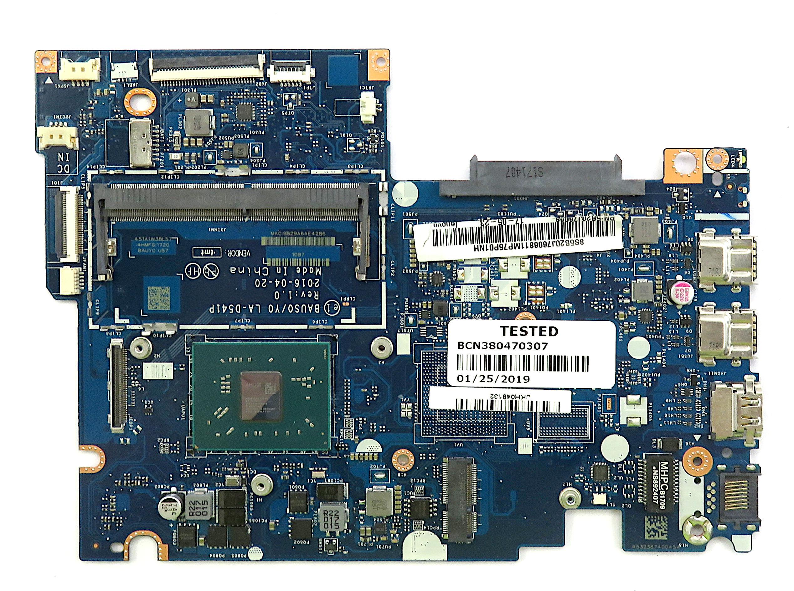Lenovo 5B20J76068 Motherboard w/ AMD A6-9210 APU f/ Yoga 500/510