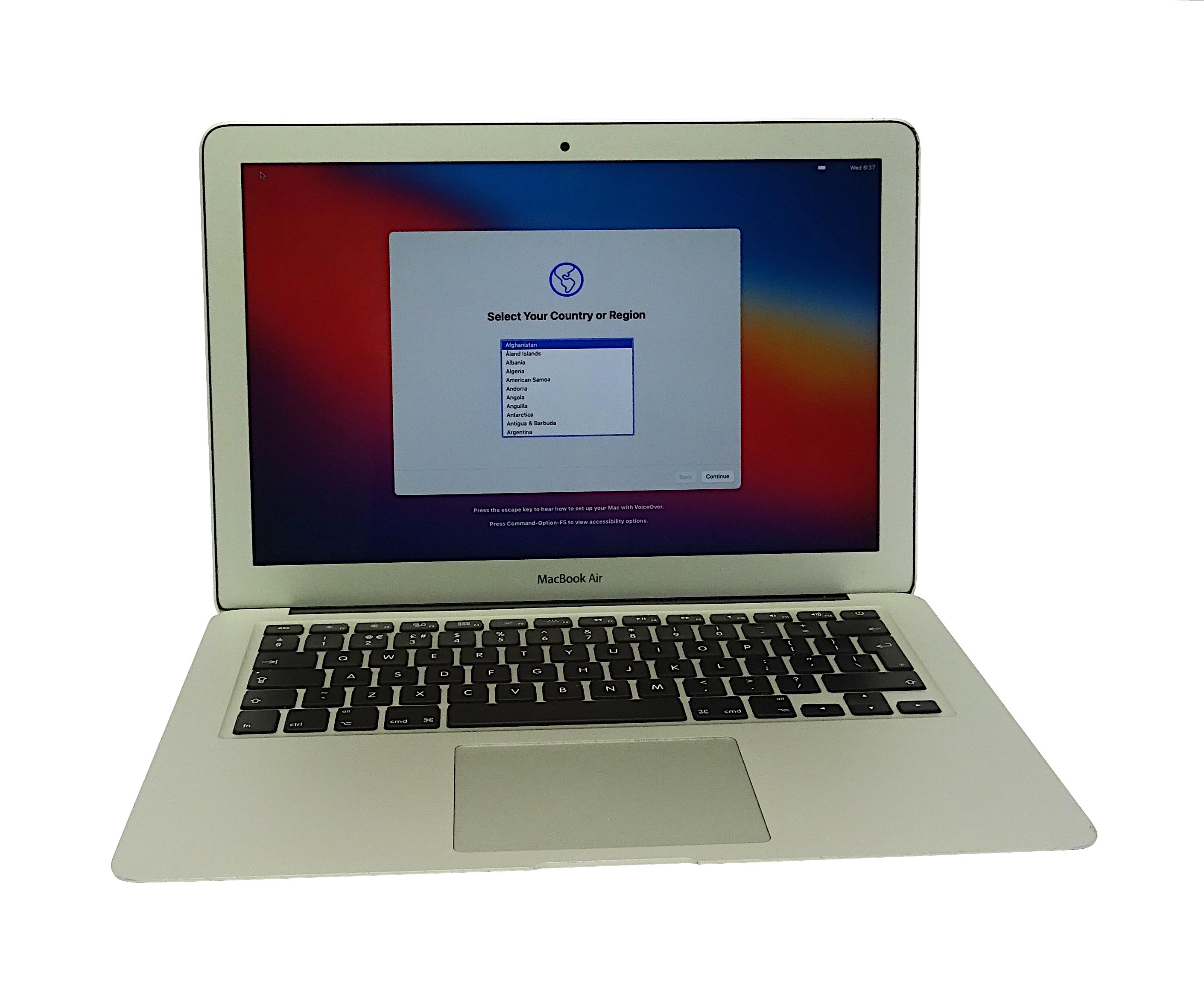 "Apple MacBook Air 13"" A1466 Early 2015 Core i5 1.6GHz 4GB 128GB SN:C02P88RLG940"