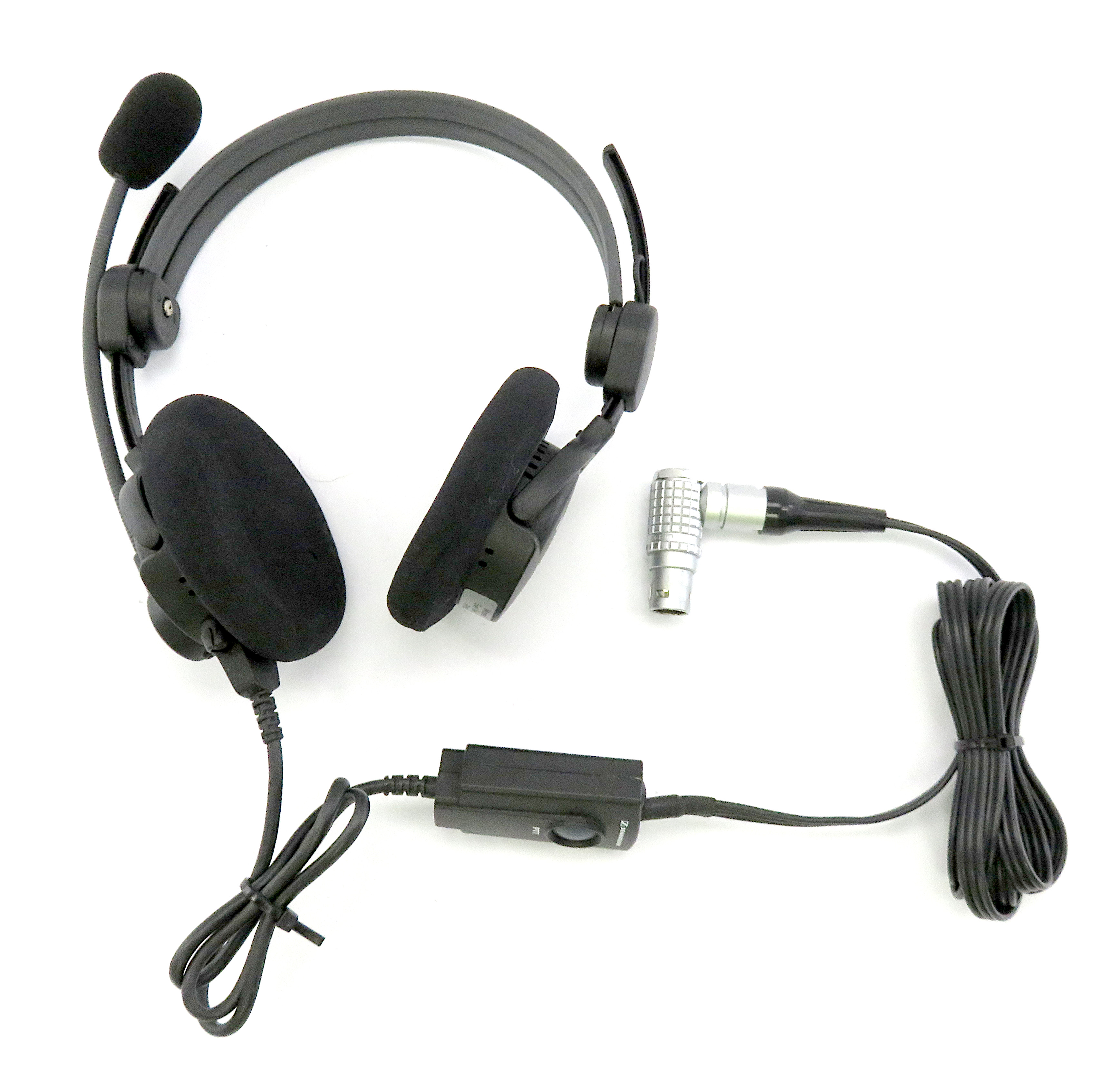 Sennheiser HME 46-3 ATC 300 Aviation Headset With CABLE-PTT-LA 046-97 / 999-0A26