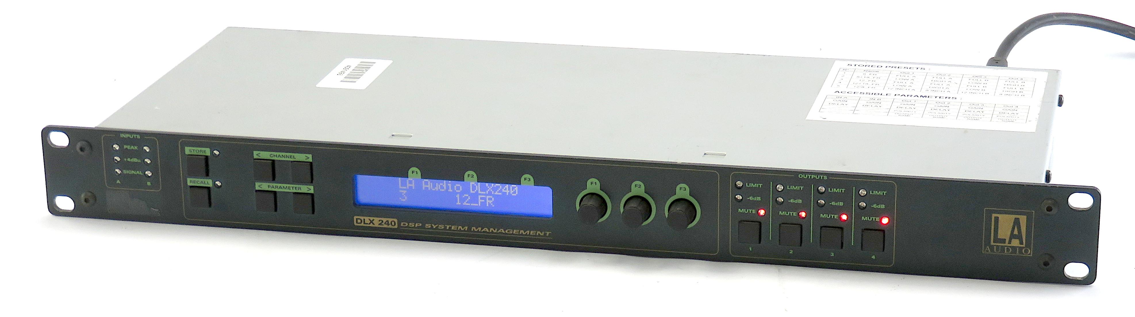 LA Audio DLX 240 Rackmount Digital Speaker Management Processor 2 Input+4 Output