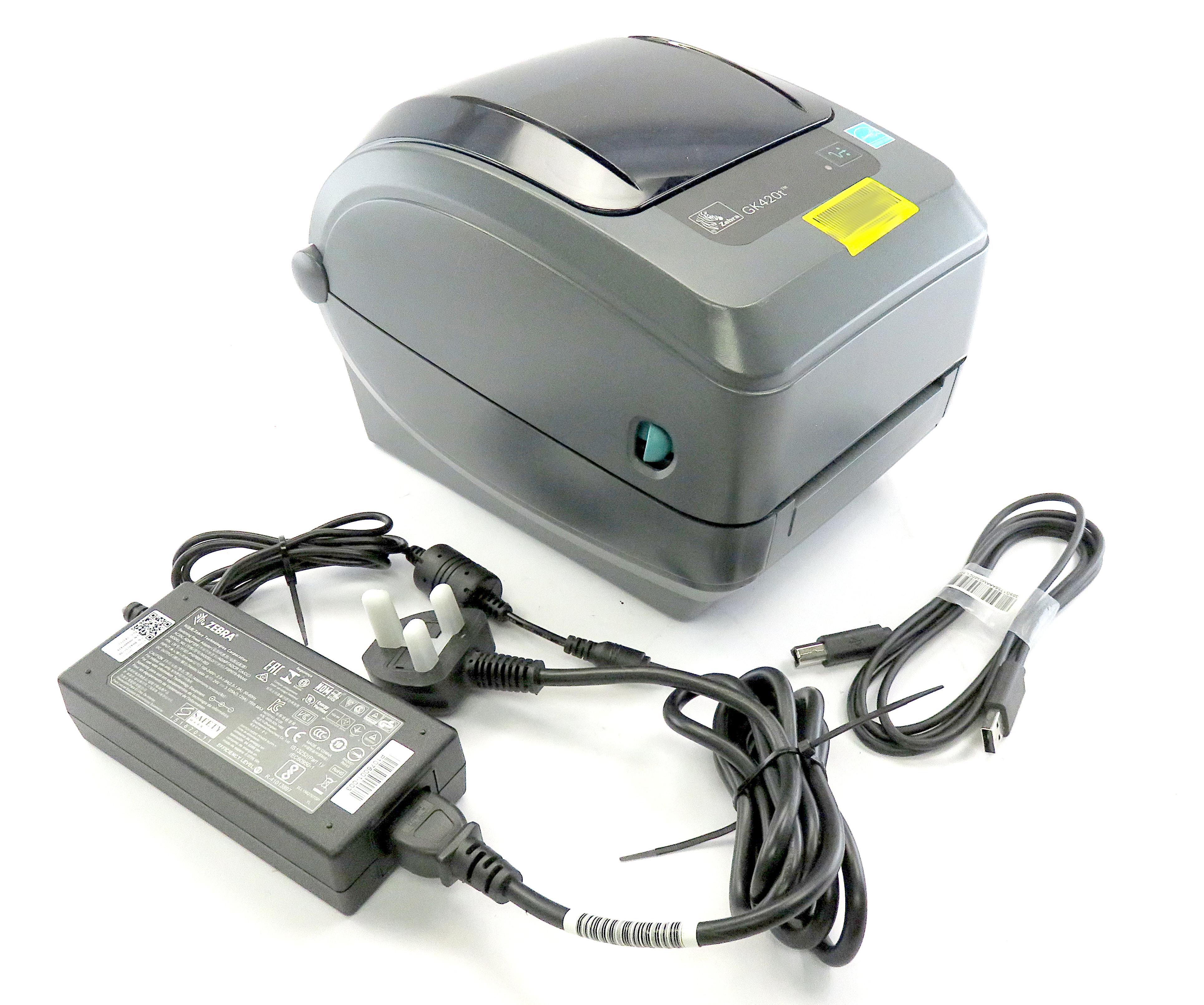 Zebra GK420t Thermal Transfer Label Printer with USB/PSU GK42-102520-000
