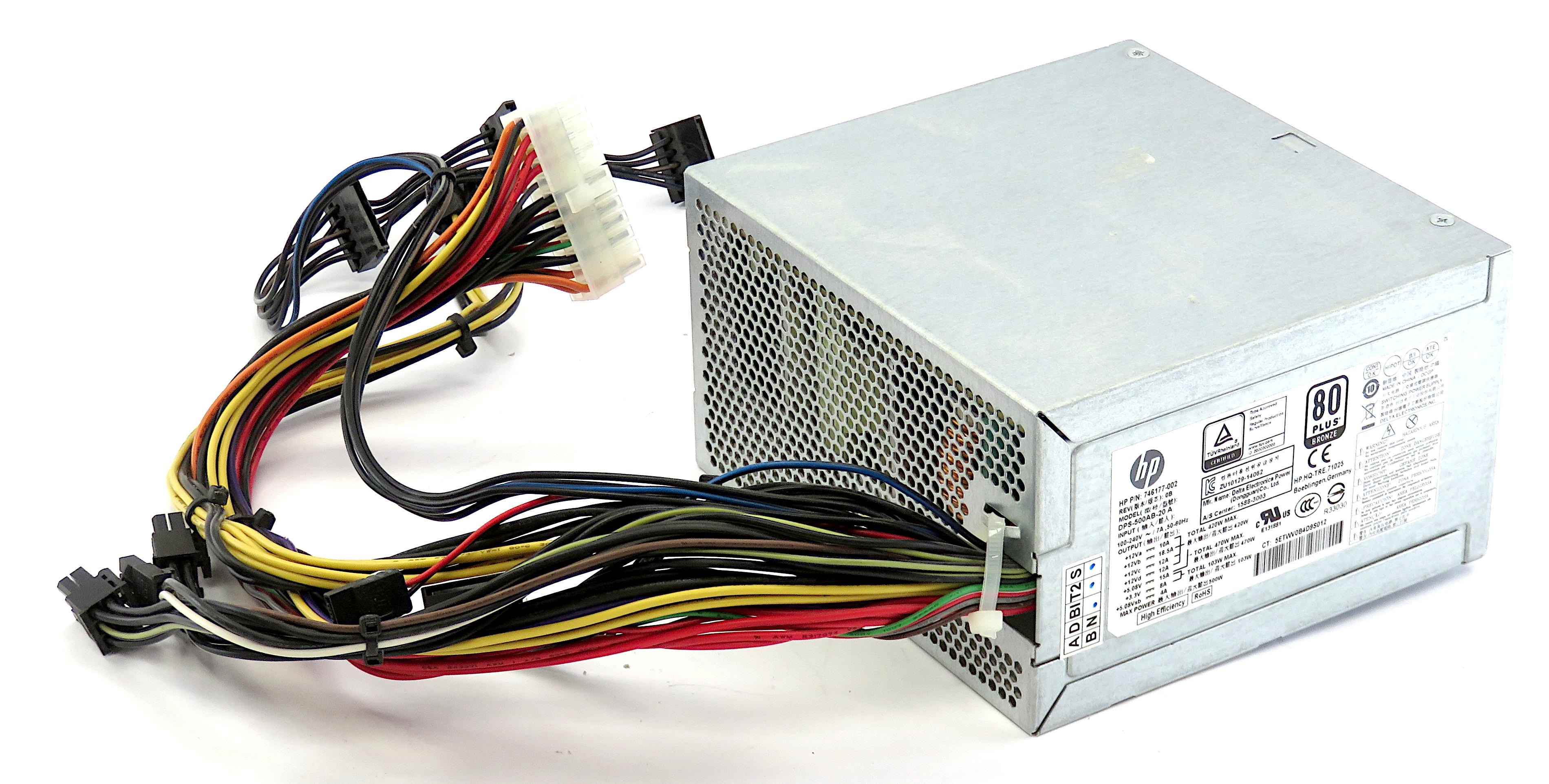 HP 746177-002 500W 80+ Bronze 24-pin ATX PSU DPS-500AB-20