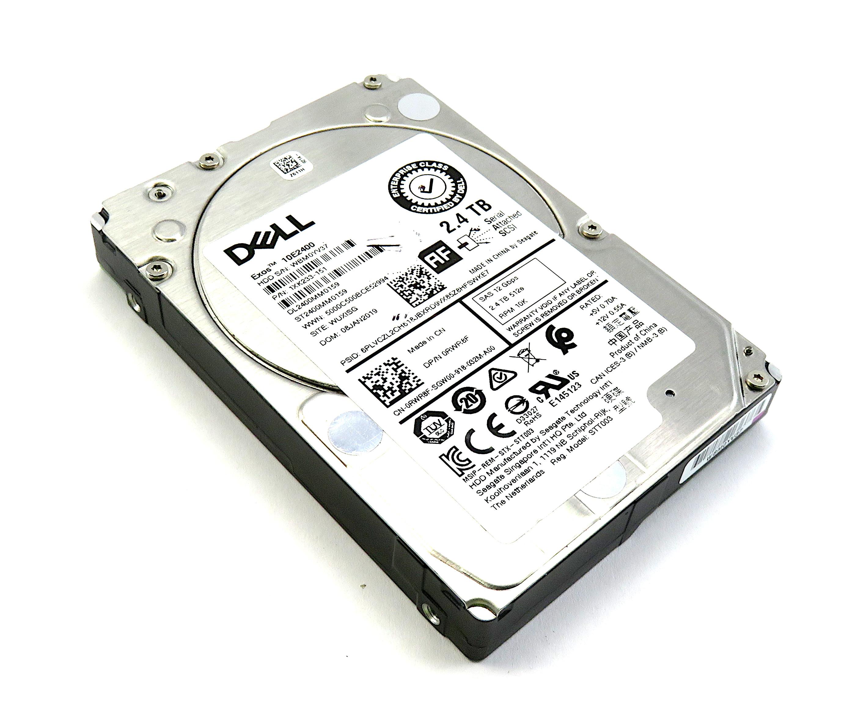 "Dell Seagate Exos 10E2400 2.4TB HDD 2.5"" SAS 12Gbps 10K - RWR8F  - 1XK233-151"