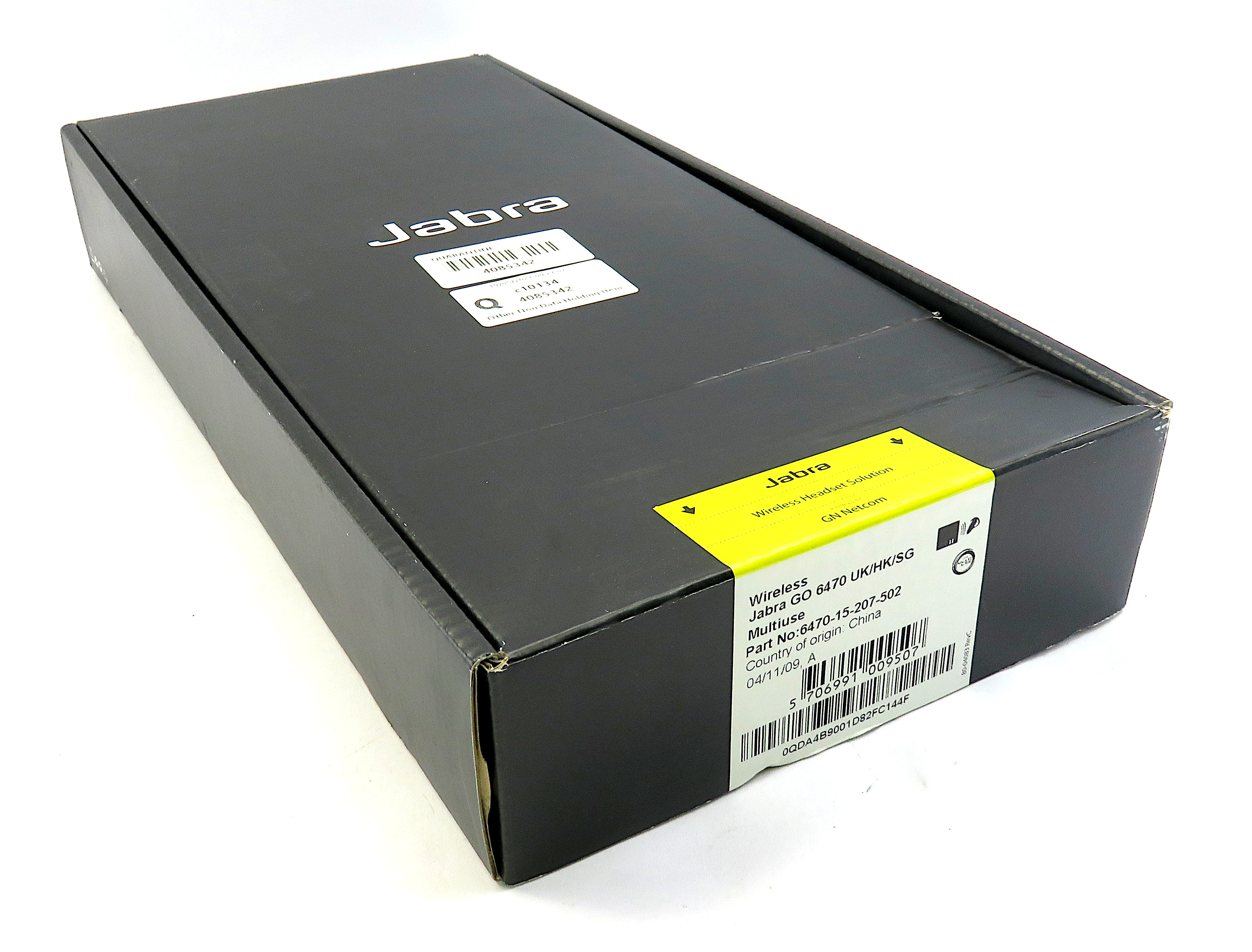 Jabra Go 6470 UK/HK/SG Wireless Bluetooth Headset - 6470-15-207-502 - New