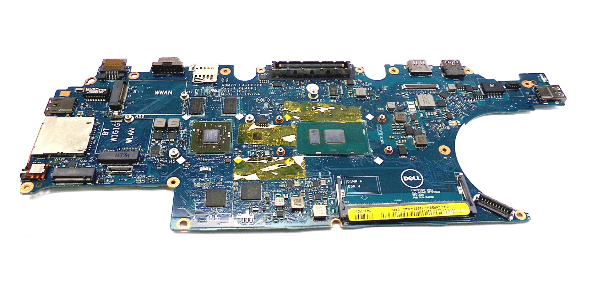 NR58R Dell Latitude E5470 with Intel Core i7-6600U Laptop Motherboard