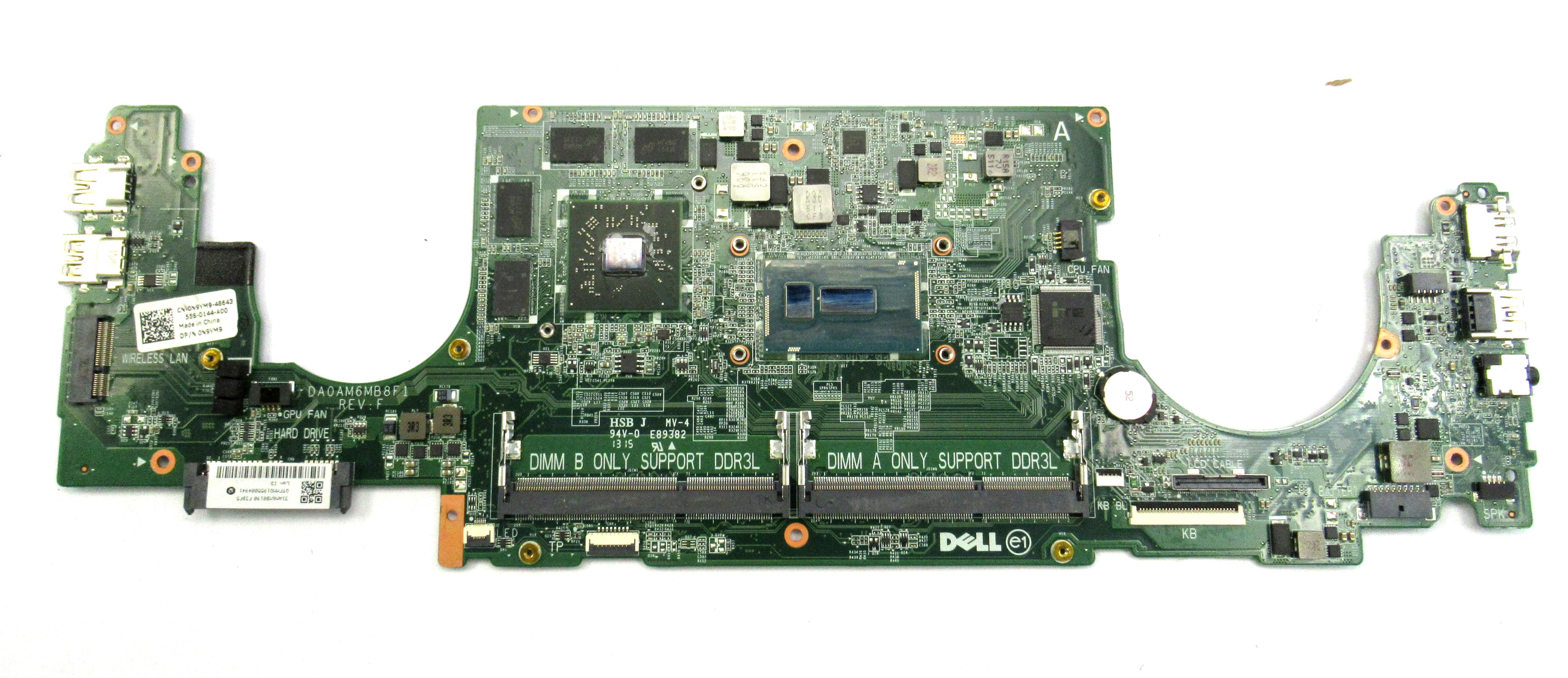 Dell Inspiron 7548 N9YM9 Laptop Motherboard /w Intel i7-5500U