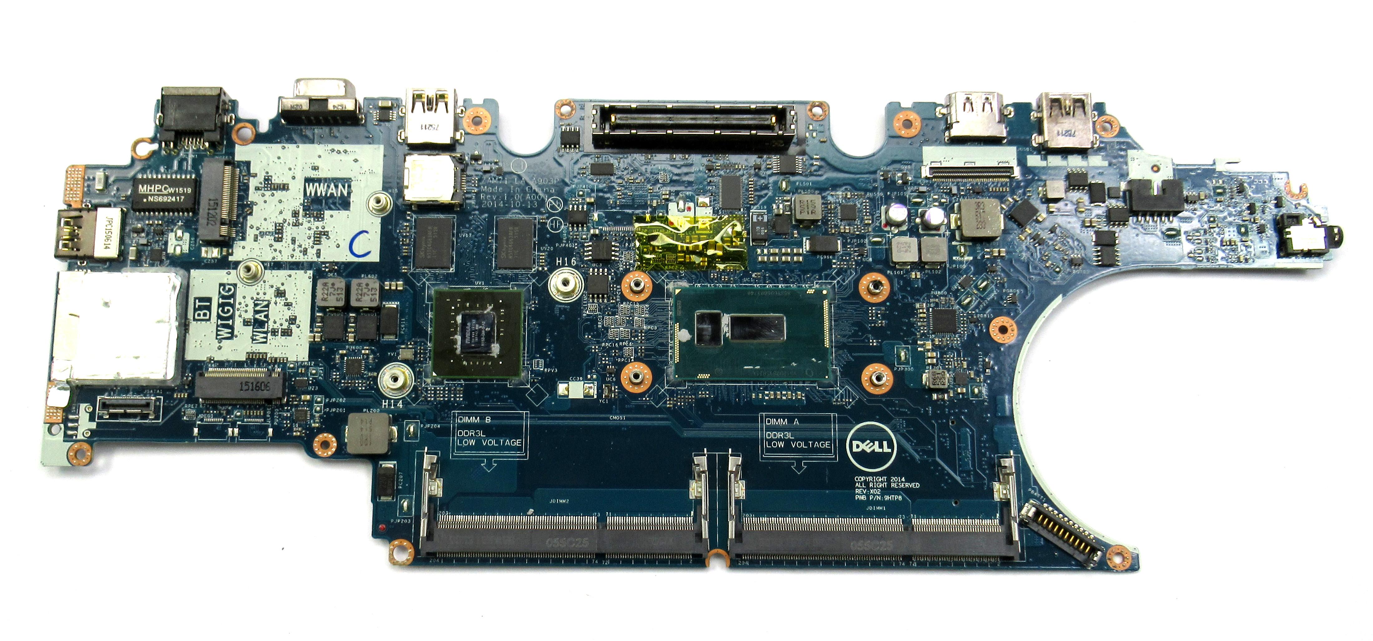 Dell Latitude E5450 Laptop Mothoerboard RH5PW Wtih i5-5300U CPU