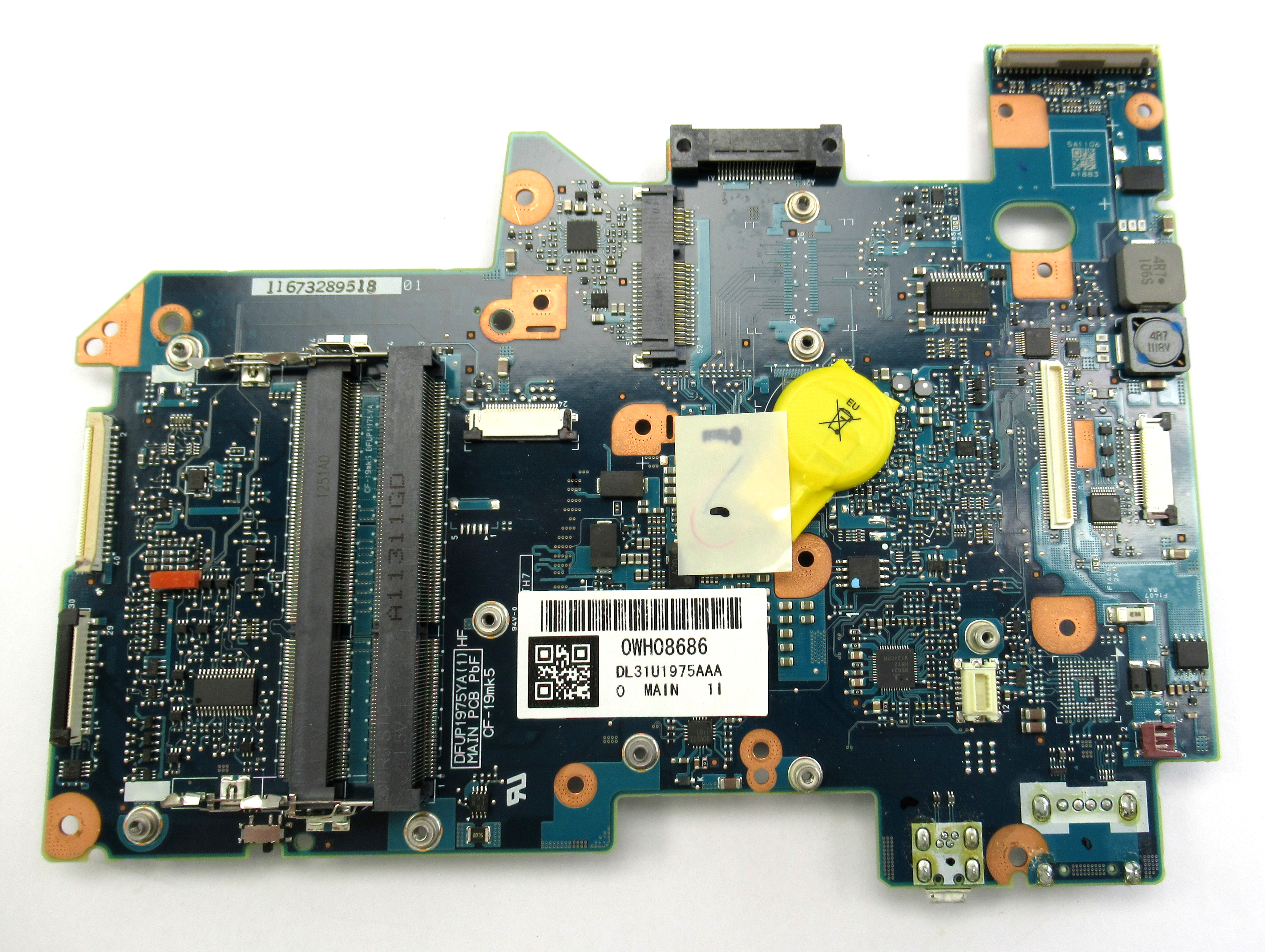 Panasonic CF-19 Toughbook Laptop Motherboard DL31U1975AAA i5-25220m