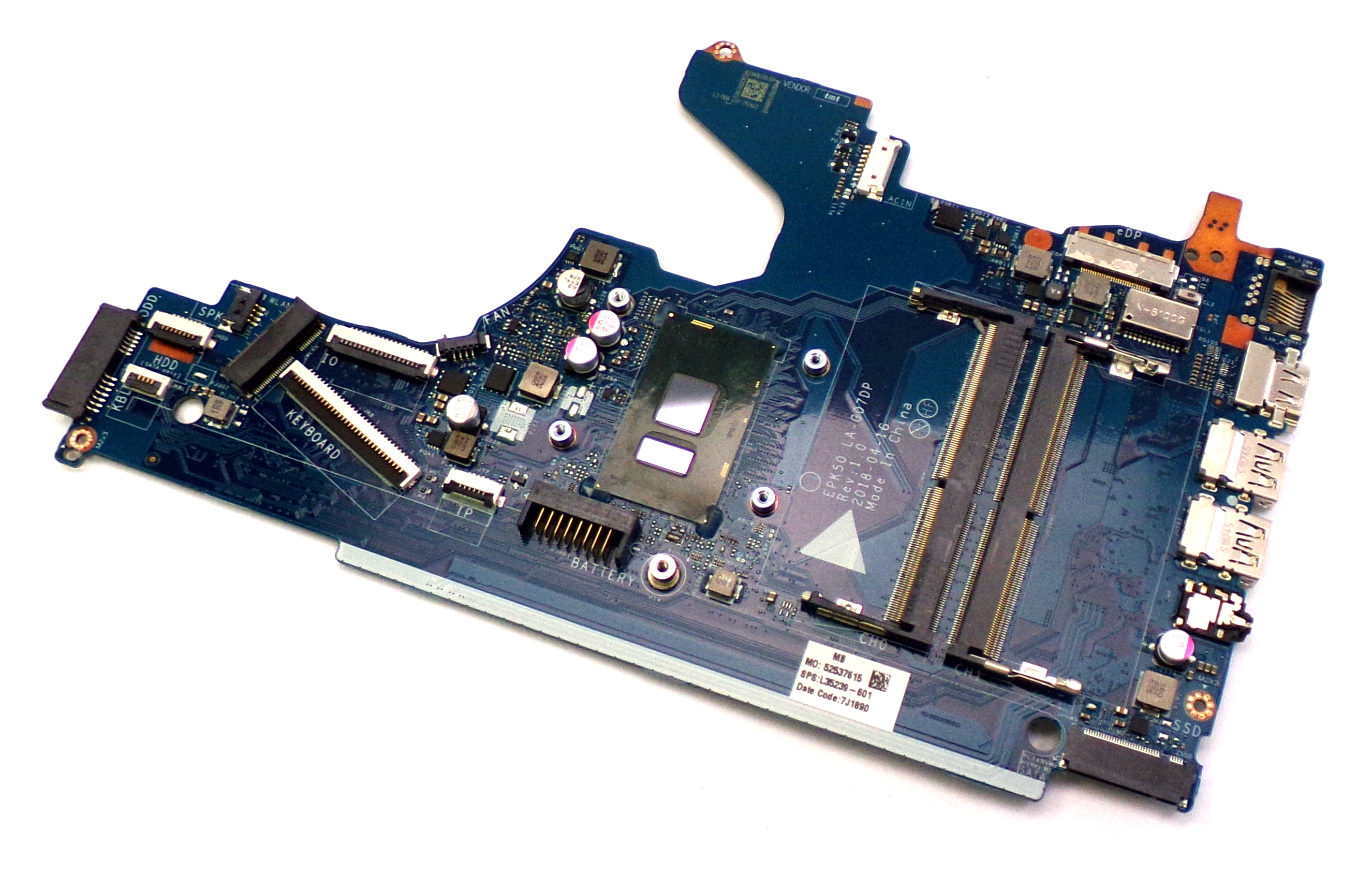 L35239-601 HP Notebook 15-DA with Intel Core i3-7100U Laptop Motherboard