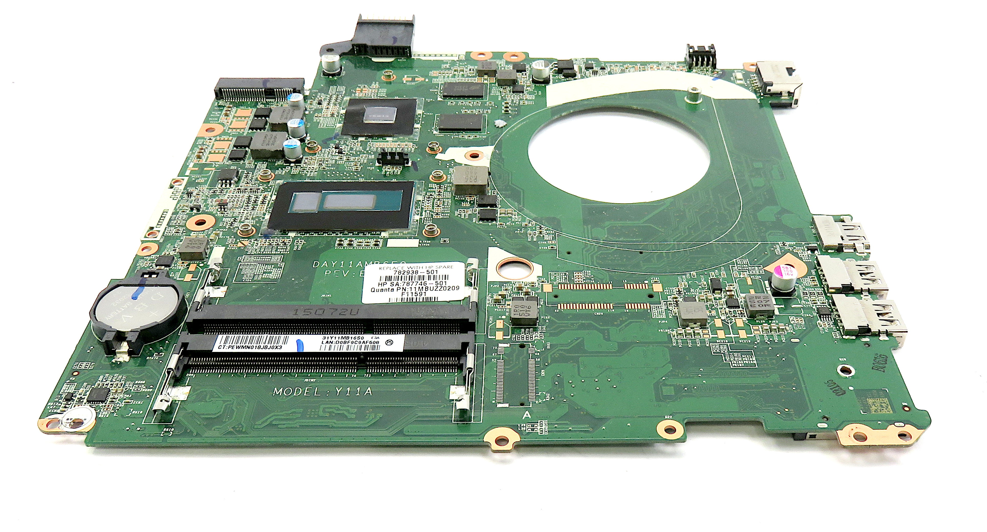 HP Pavilion 15-P 782938-501 Motherboard w/ i5-5200u & GeForce 830M GPU