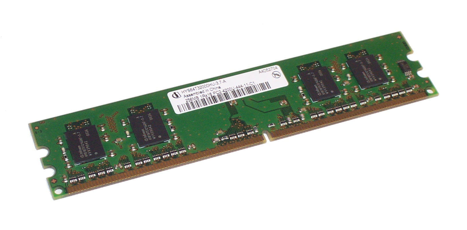 Infineon HYS64T32000HU-3.7-A 256MB PC2-4200 533MHz CL4 DDR2 DIMM