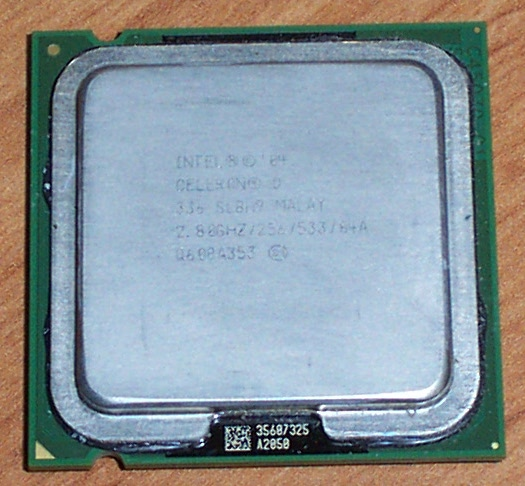 Intel SL8H9 Celeron D 336 2.80GHz 256K Cache 533MHz FSB Socket 775 Processor